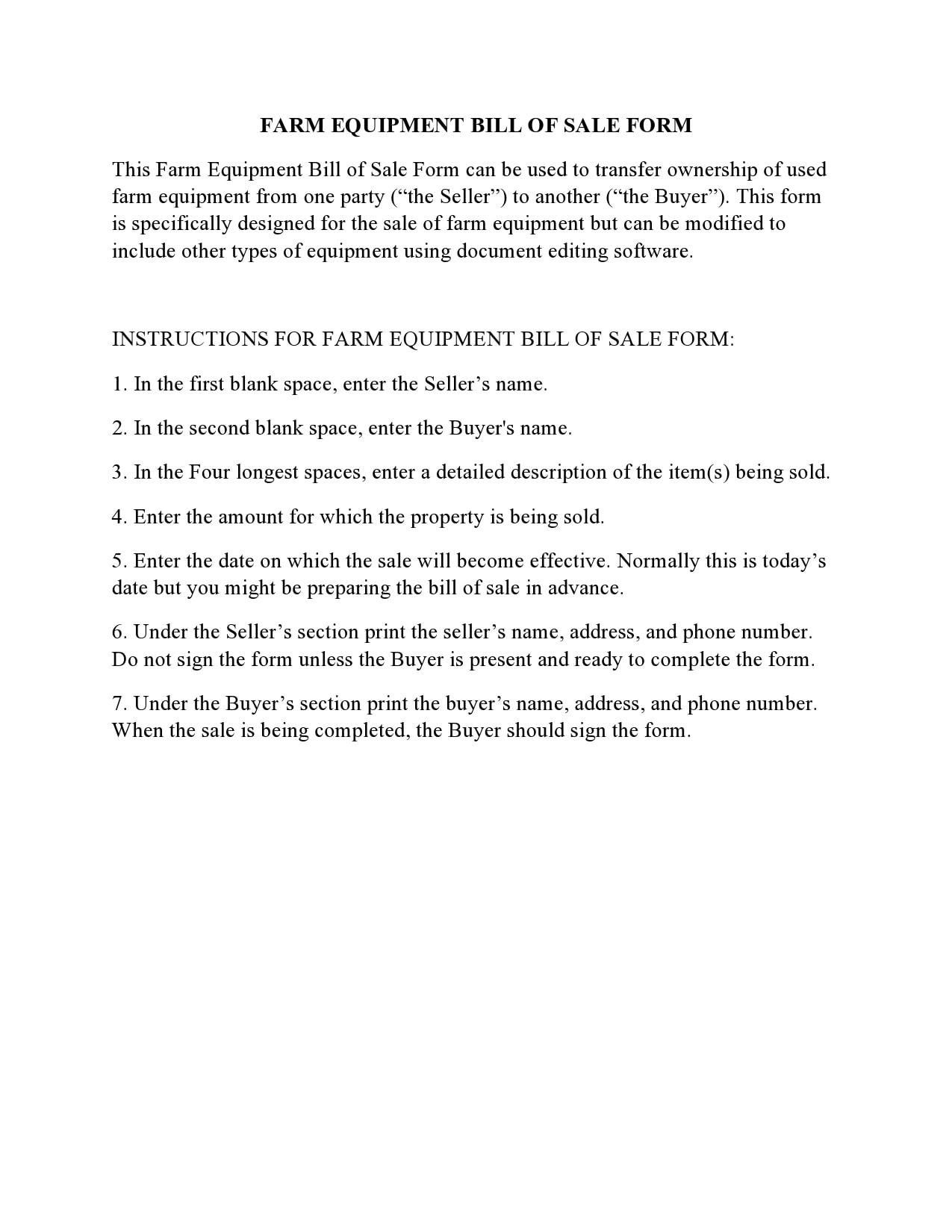 equipment bill of sale 14