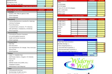 household budget template 20