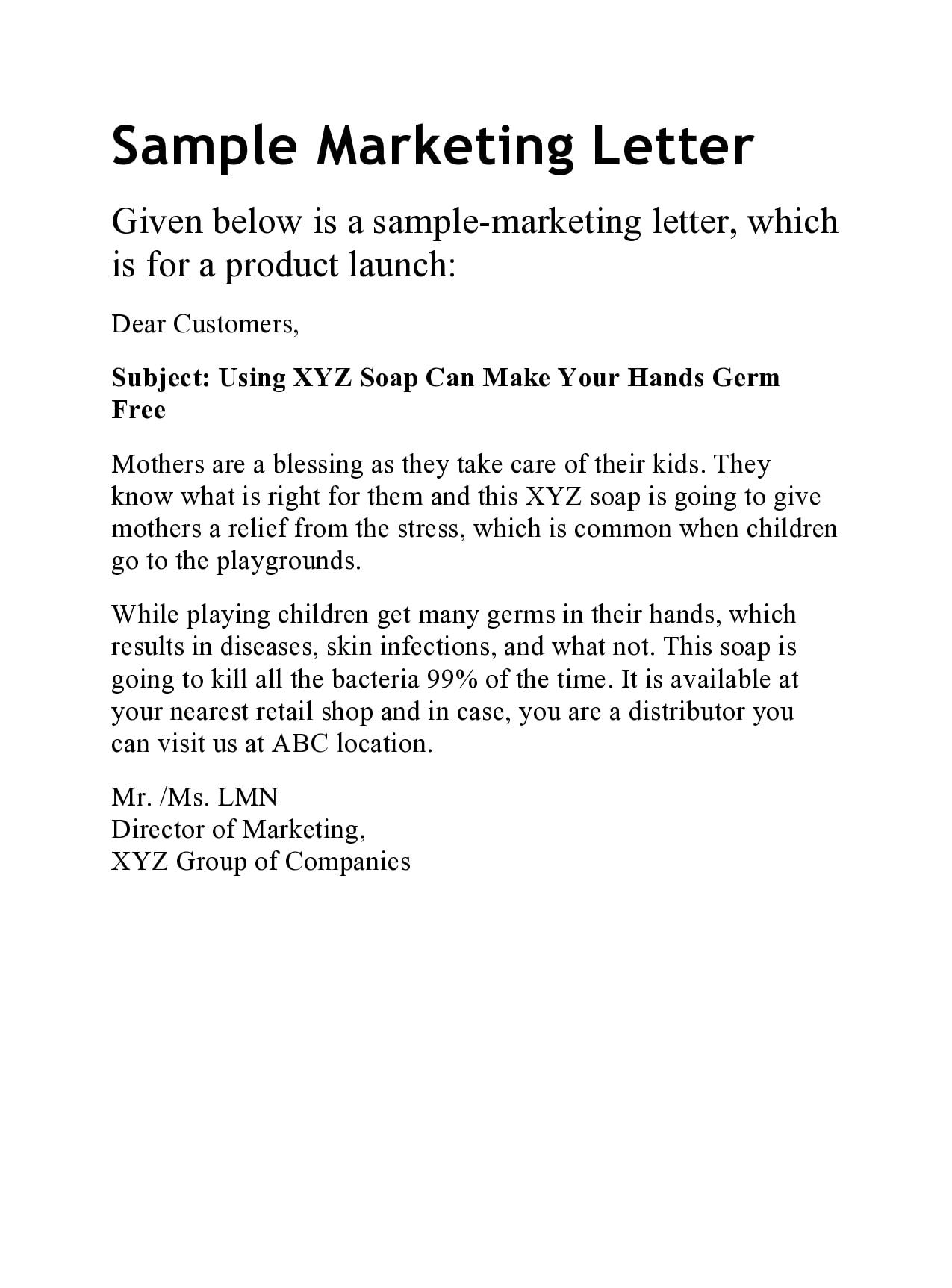 marketing letter 01