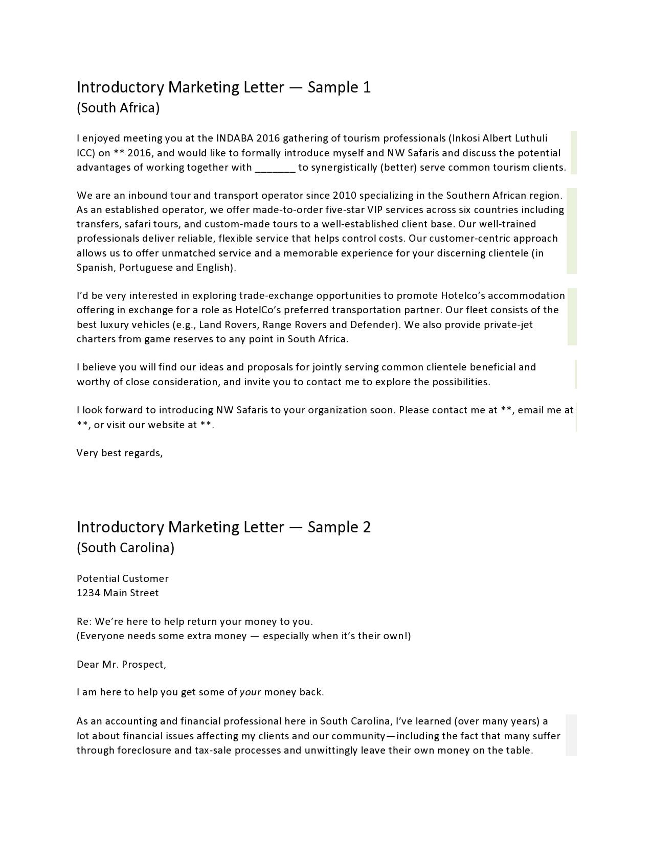 marketing letter 05