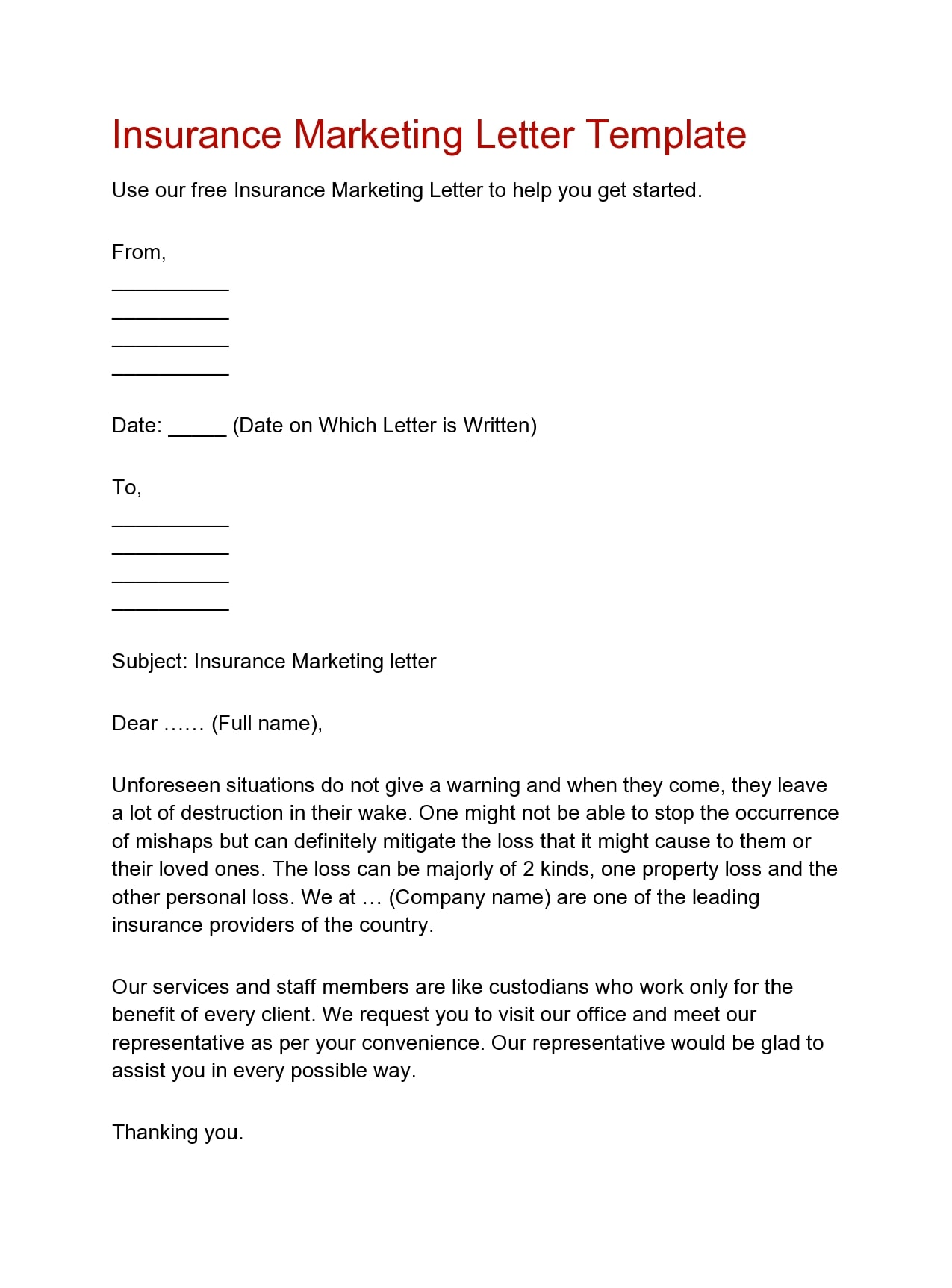marketing letter 19