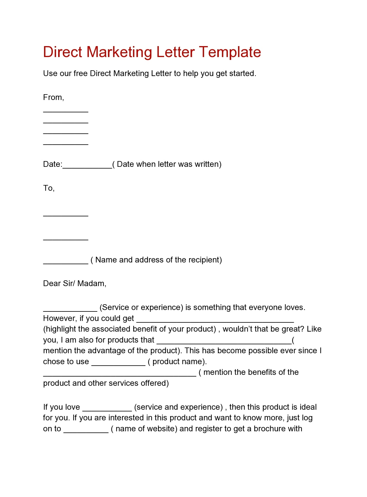 marketing letter 23