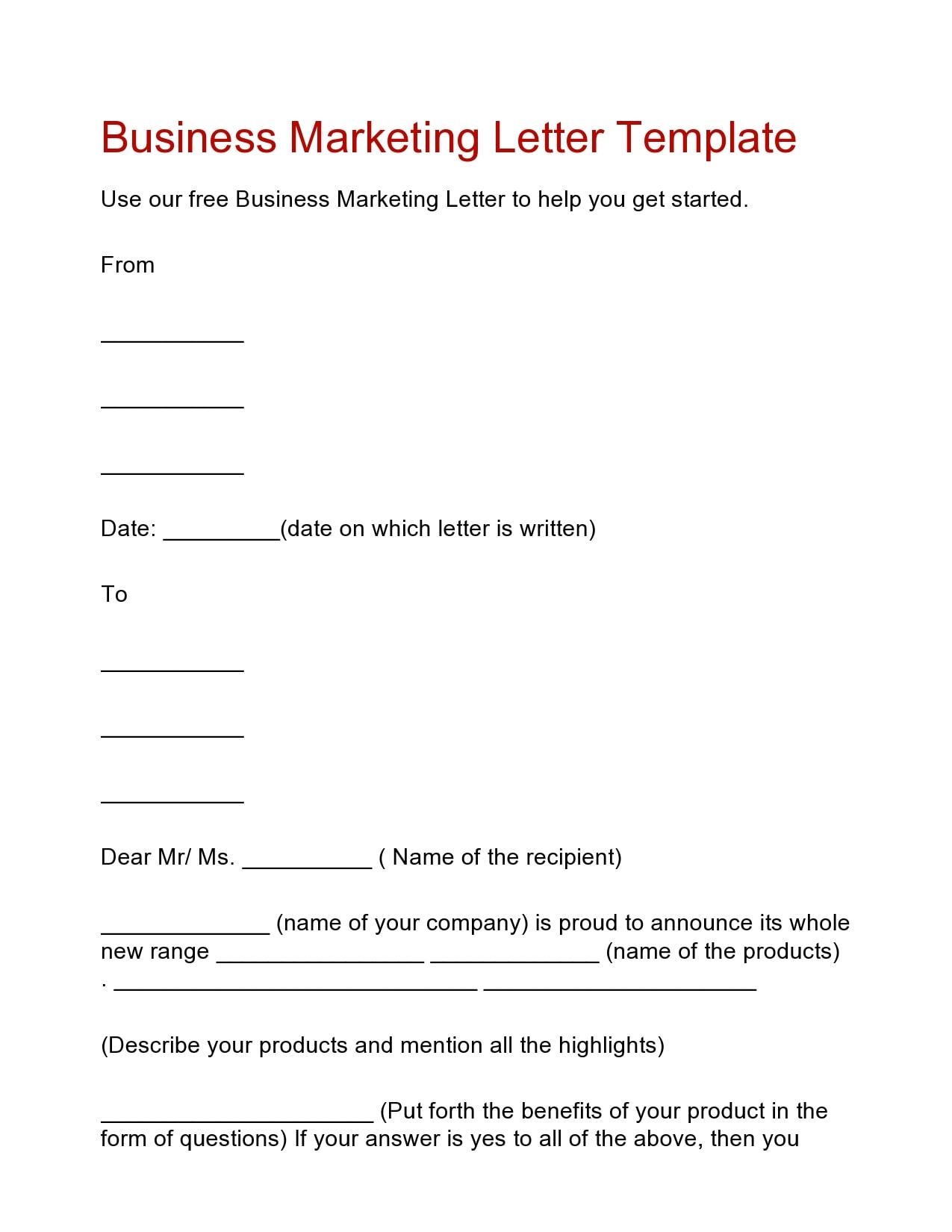 marketing letter 27