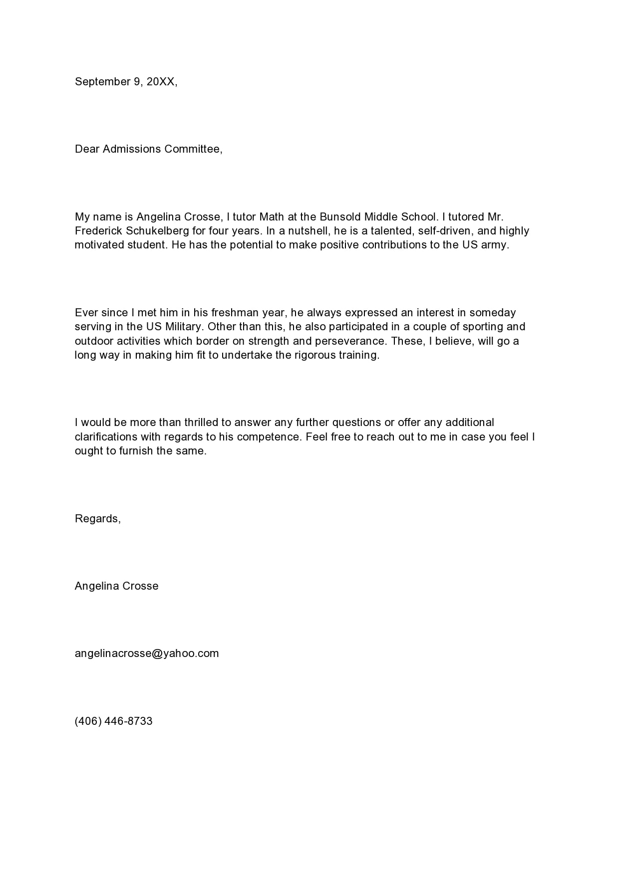 military letter of recommendation 03