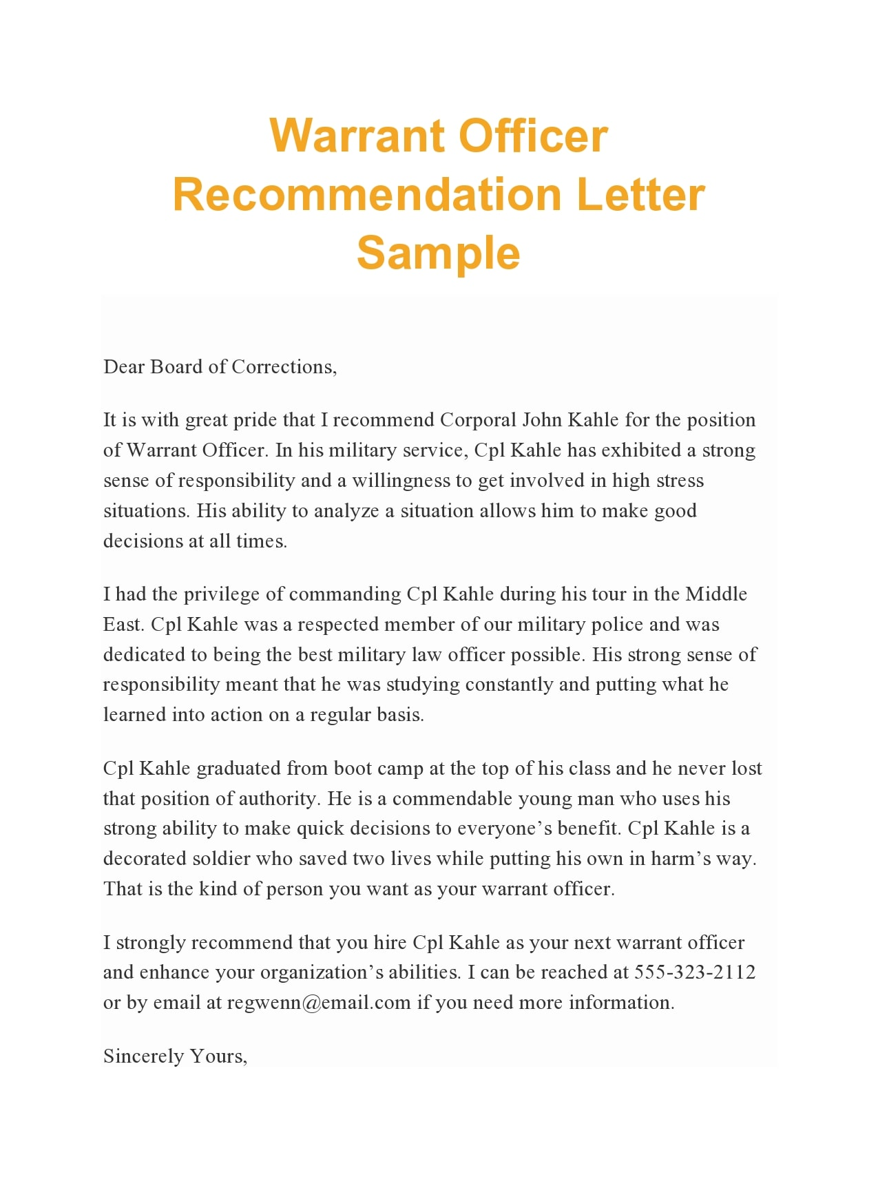 military letter of recommendation 06