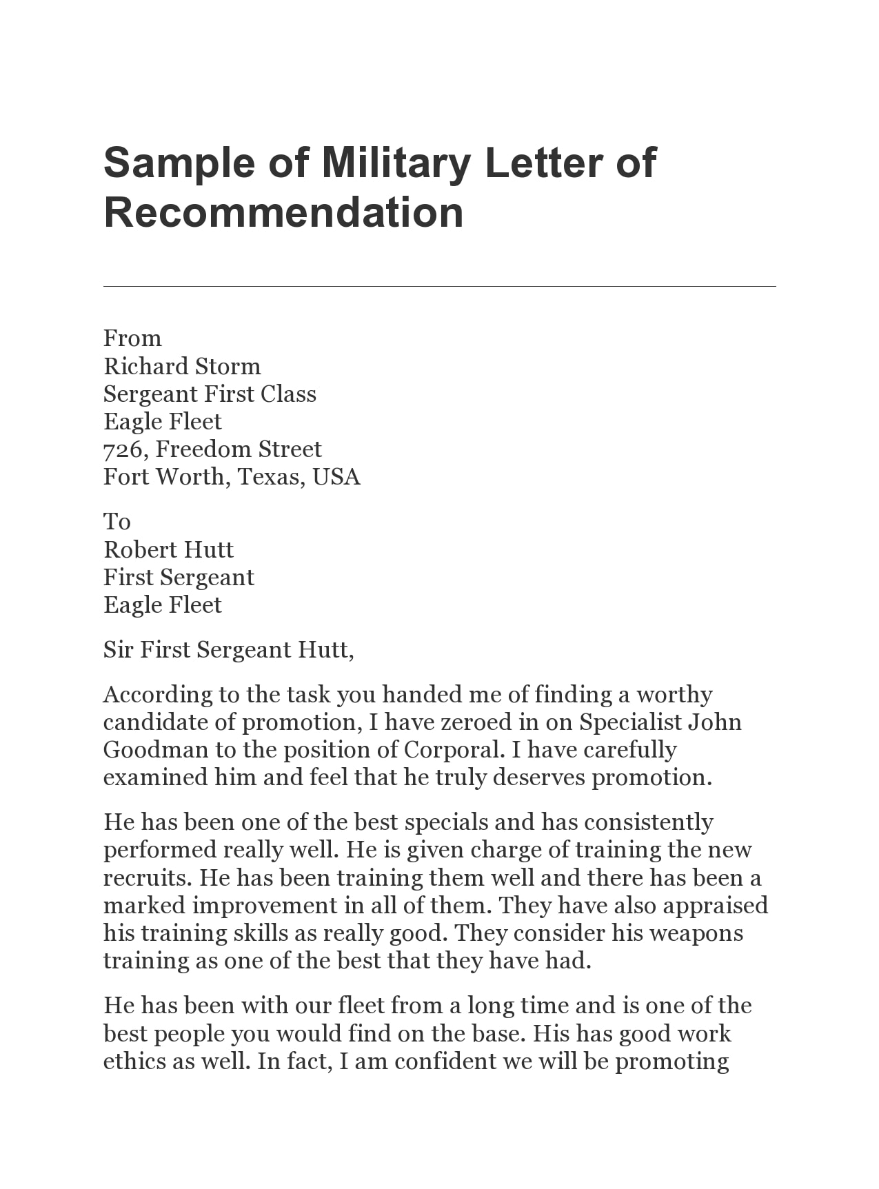 military letter of recommendation 07