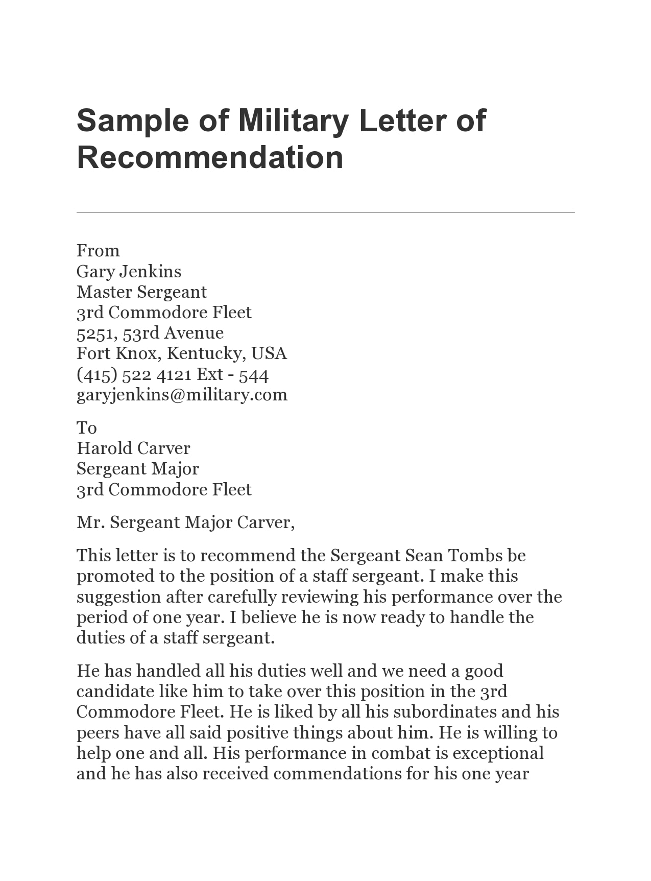 military letter of recommendation 08