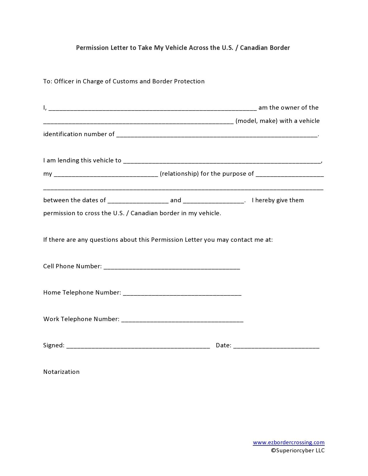 permission letter 06