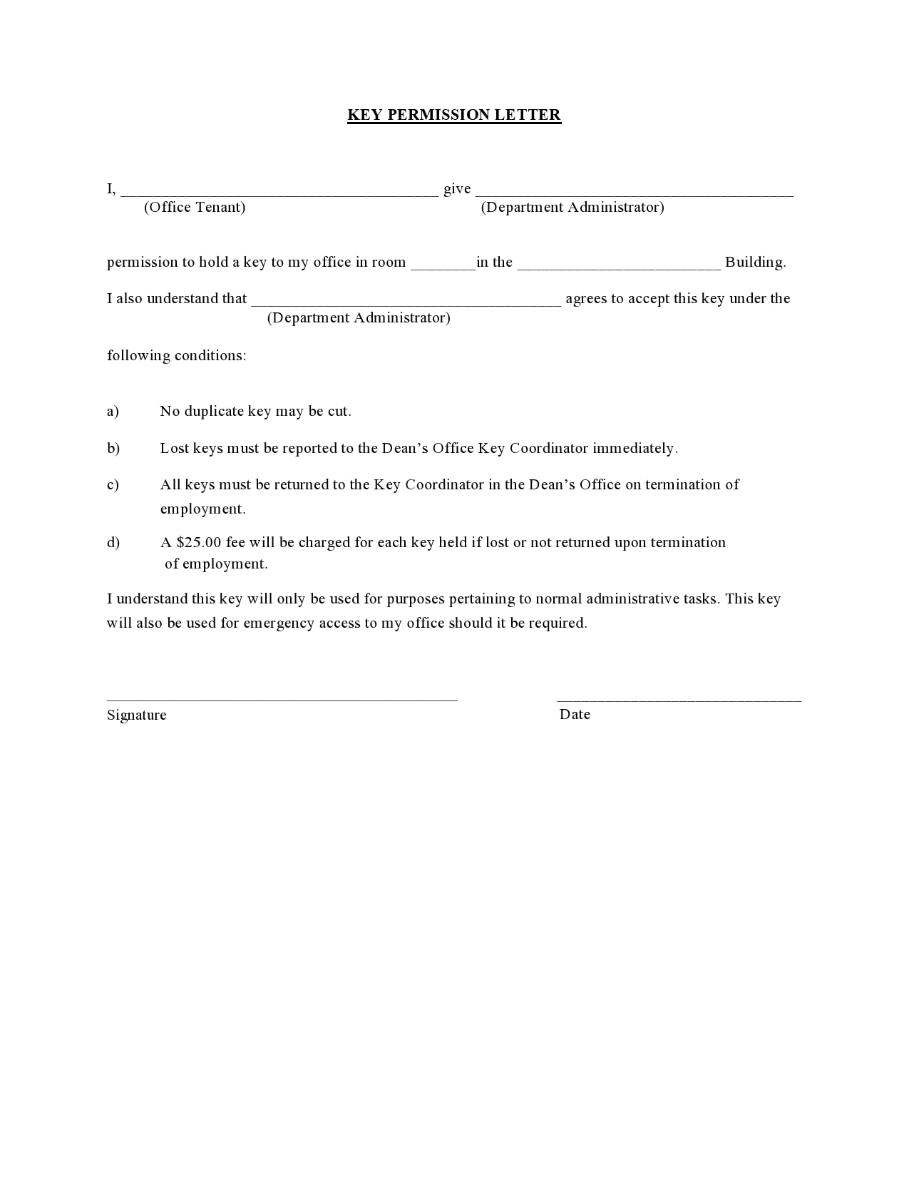 permission letter 10