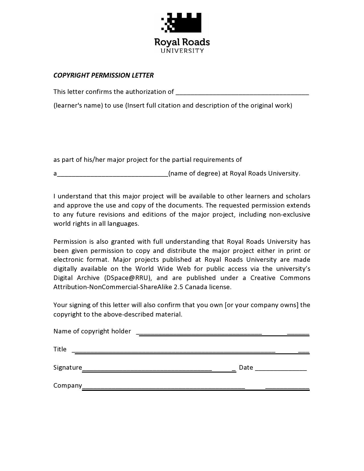 permission letter 12