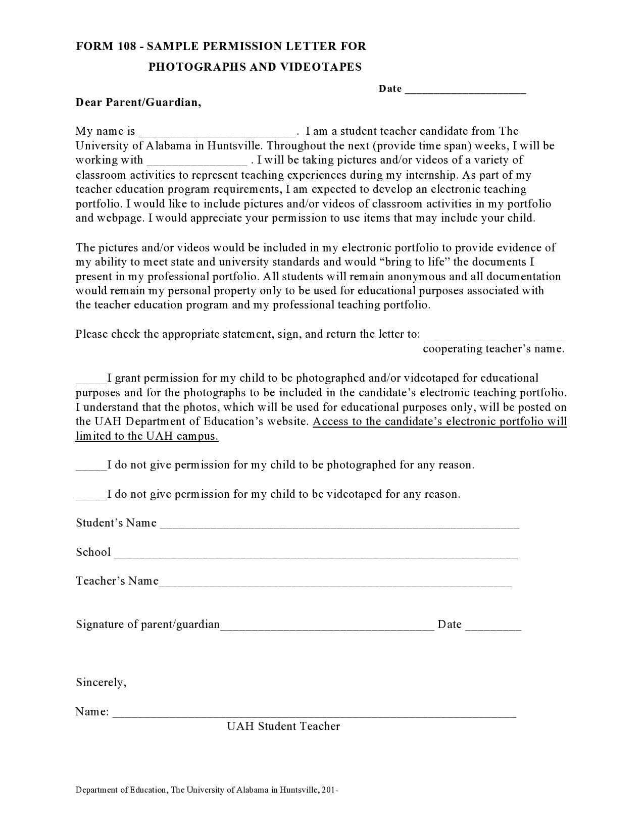permission letter 18