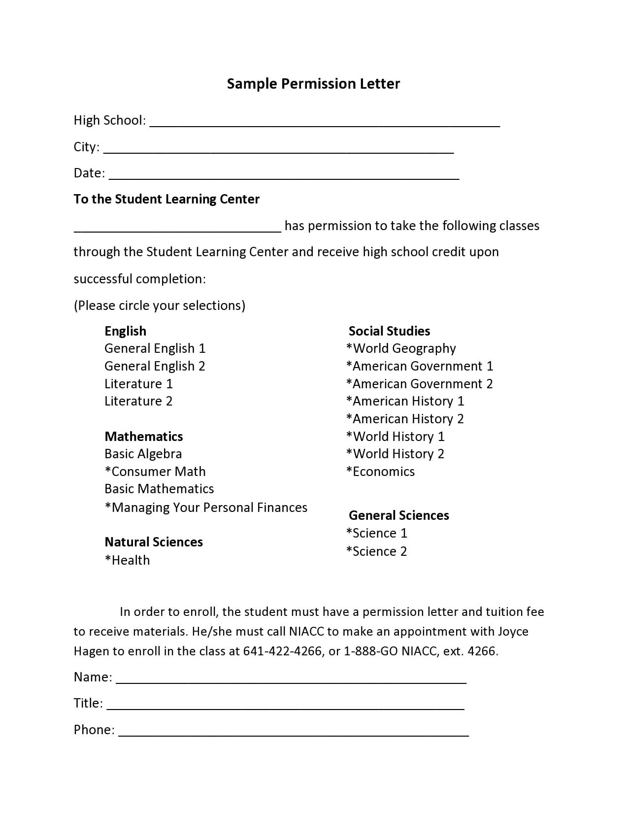permission letter 23