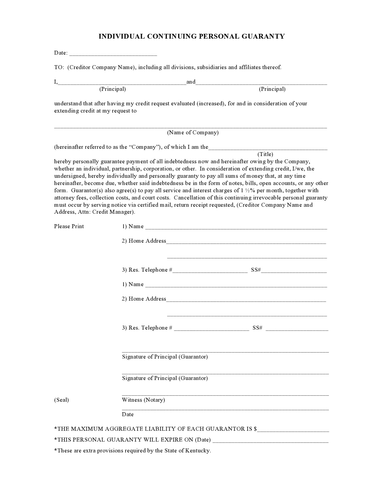 personal guarantee form 02