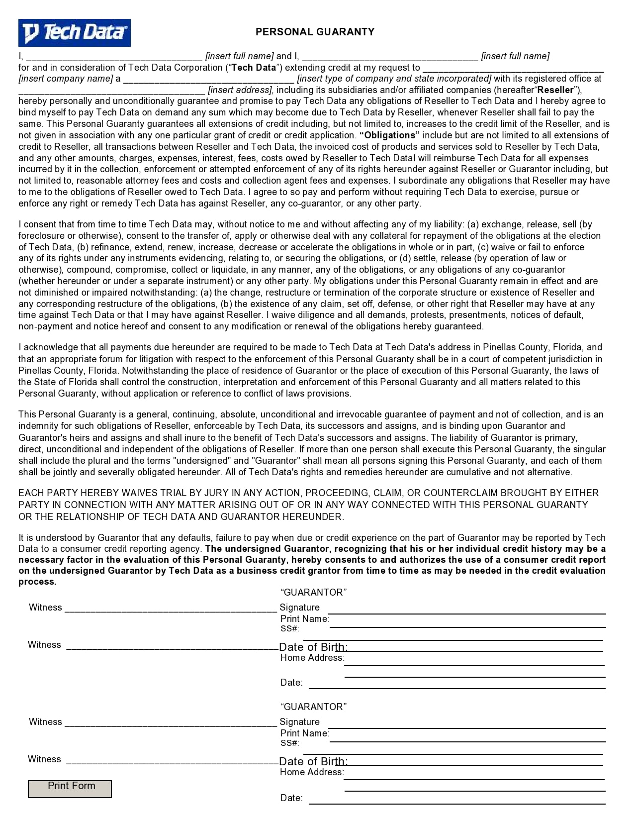 personal guarantee form 05