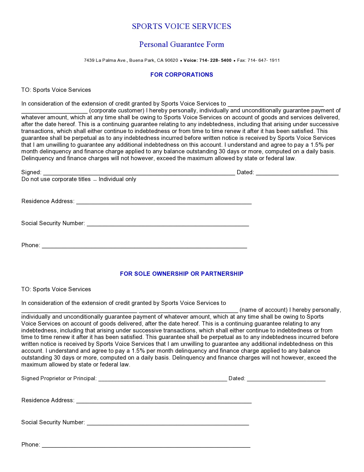 personal guarantee form 06