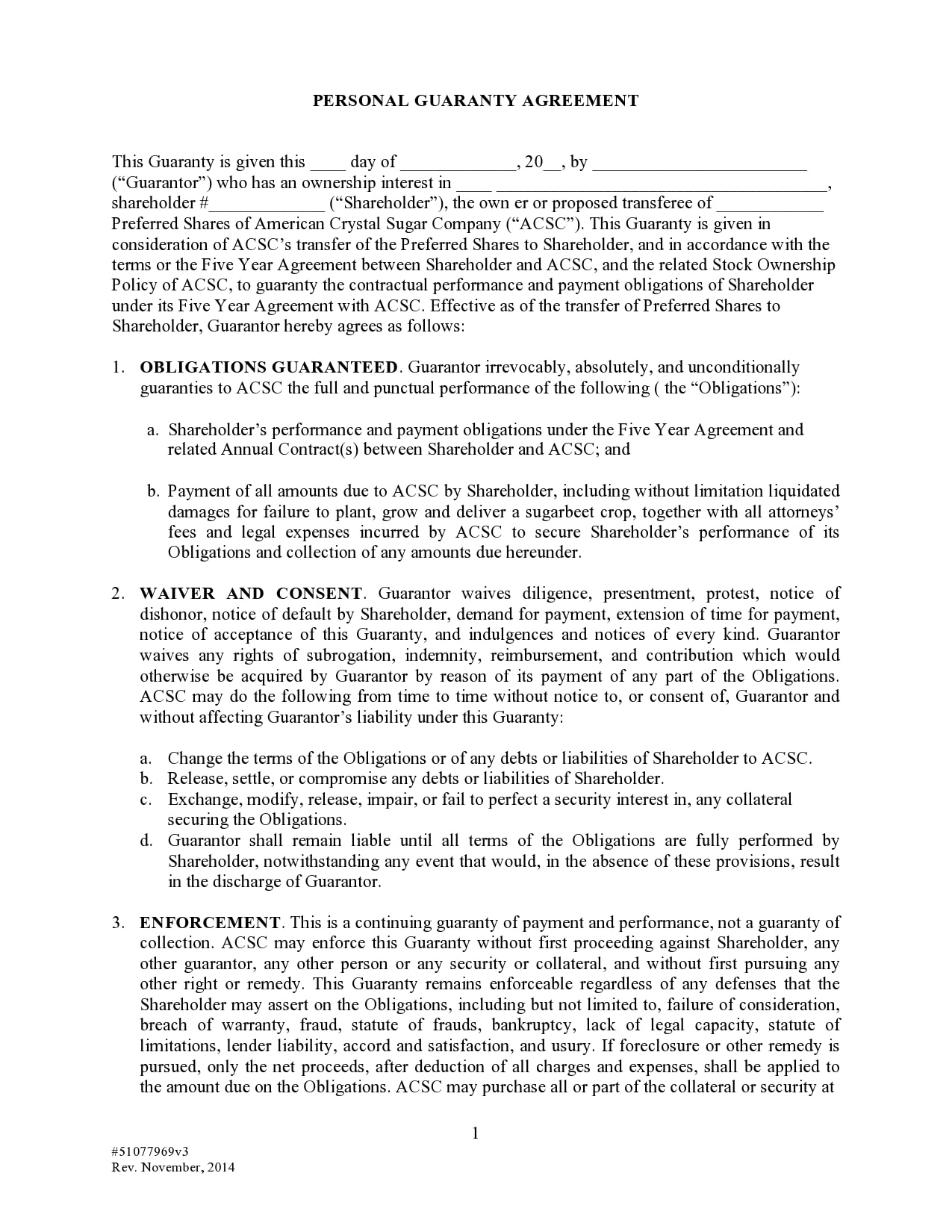 personal guarantee form 21