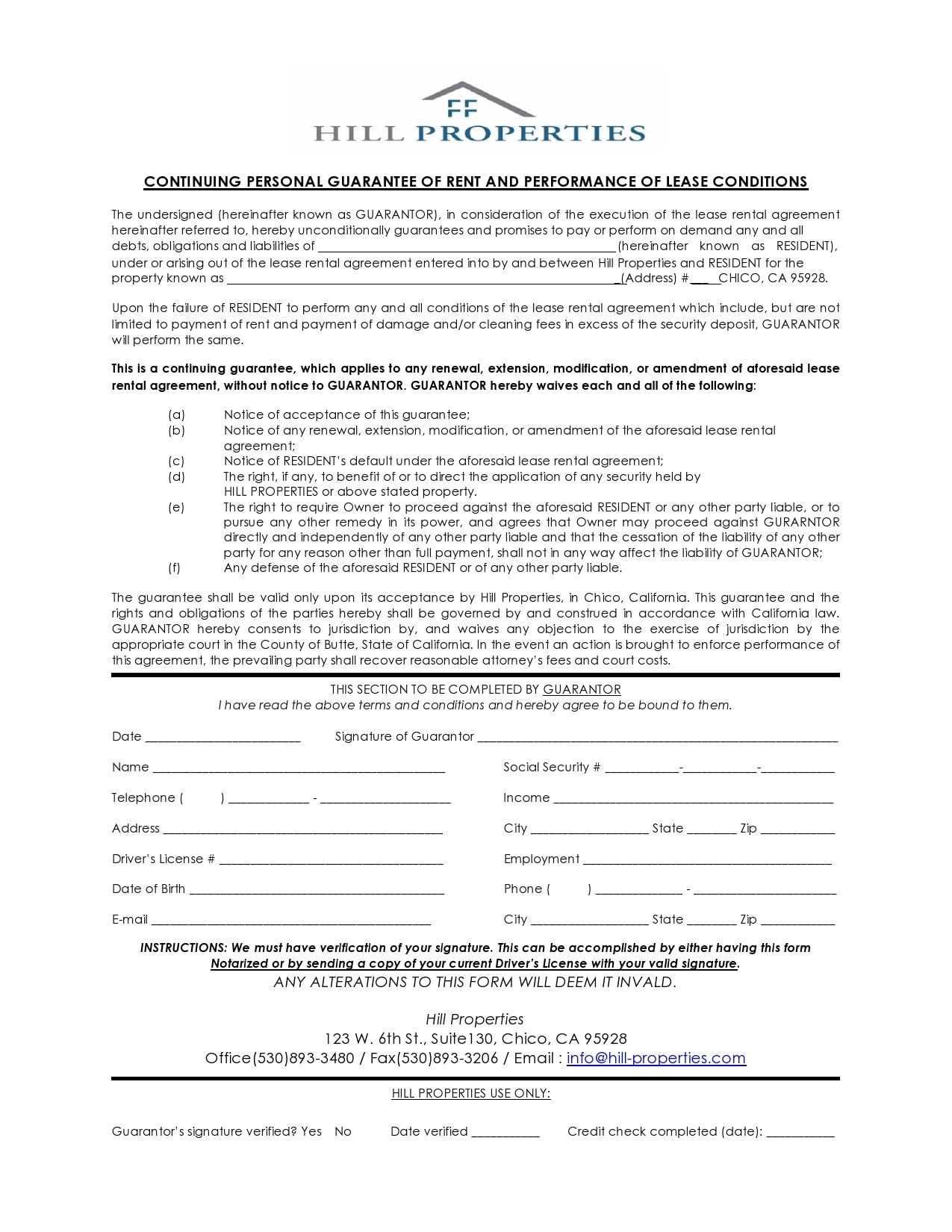 personal guarantee form 29