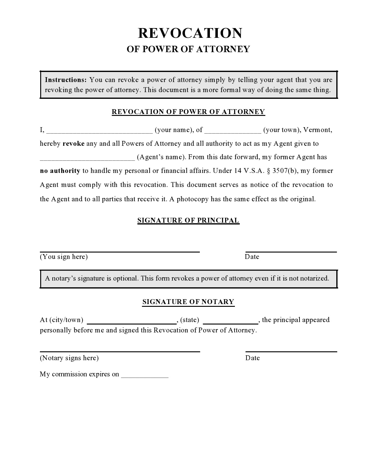 power of attorney revocation form 03
