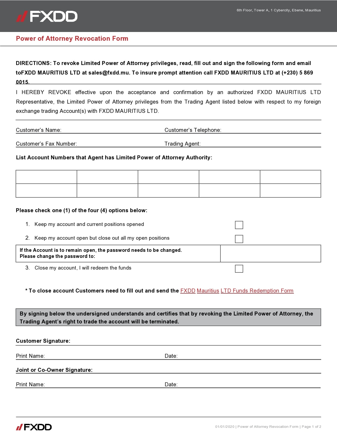 power of attorney revocation form 04