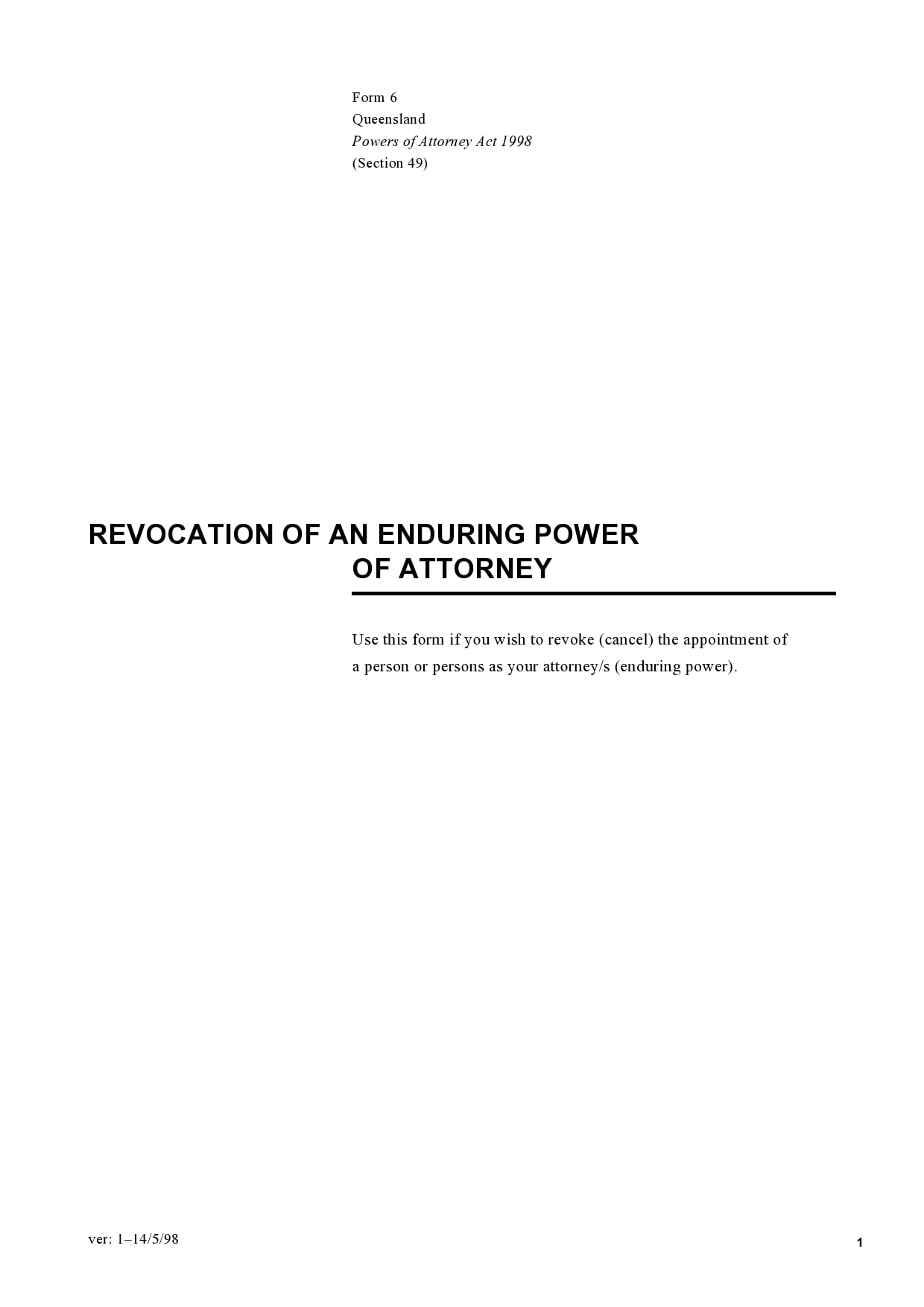 power of attorney revocation form 05