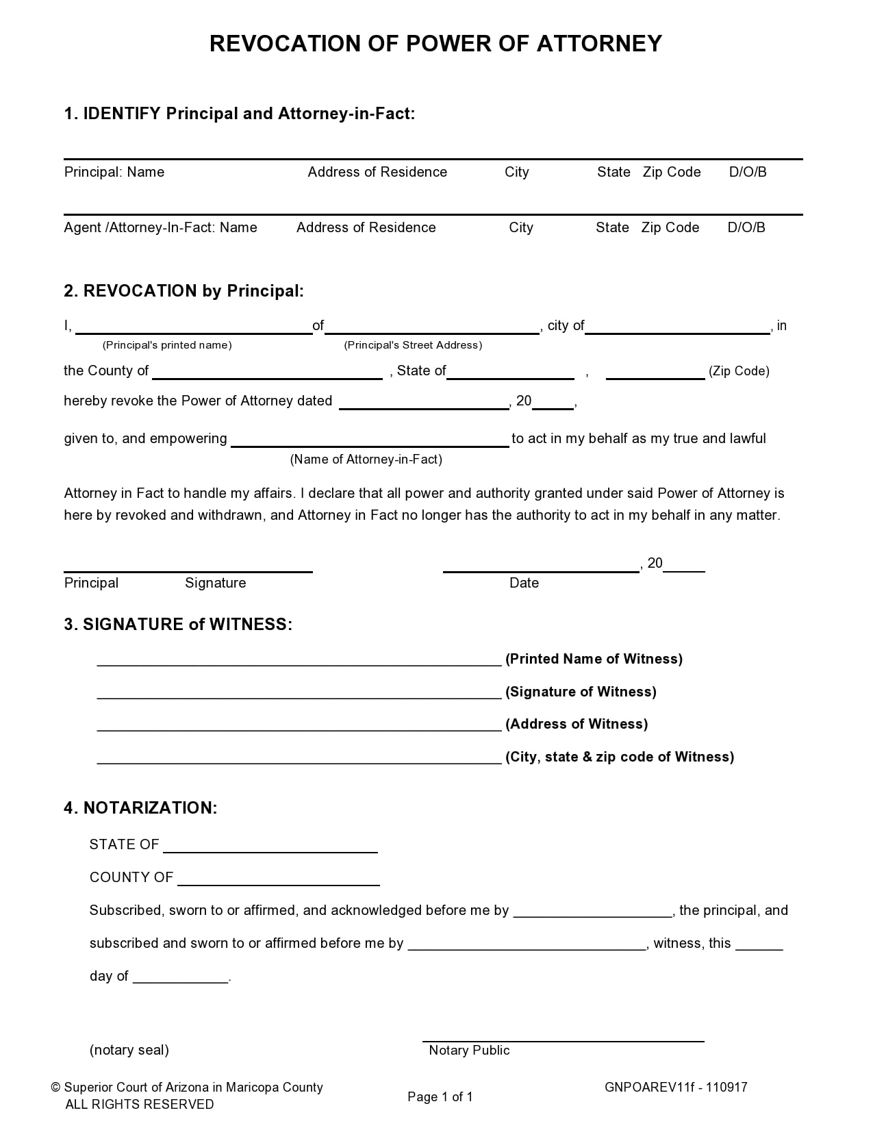 power of attorney revocation form 09