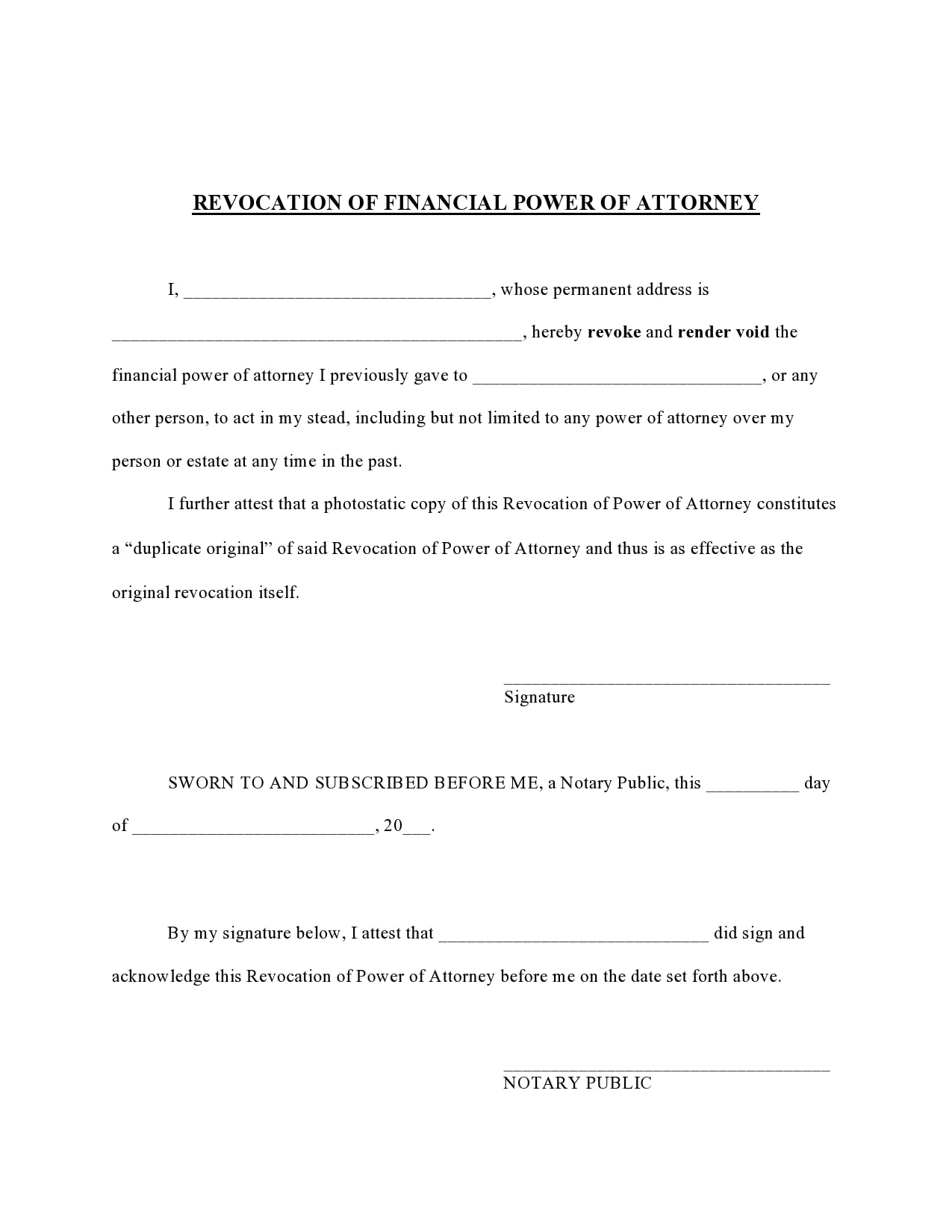 power of attorney revocation form 13