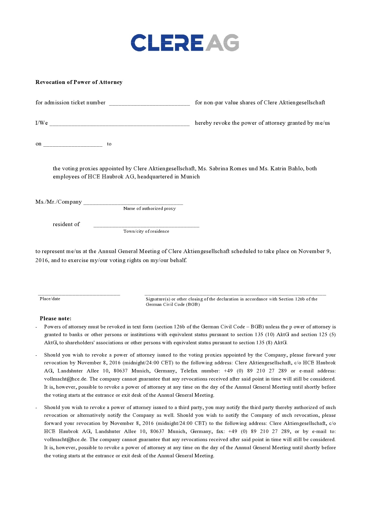 power of attorney revocation form 14