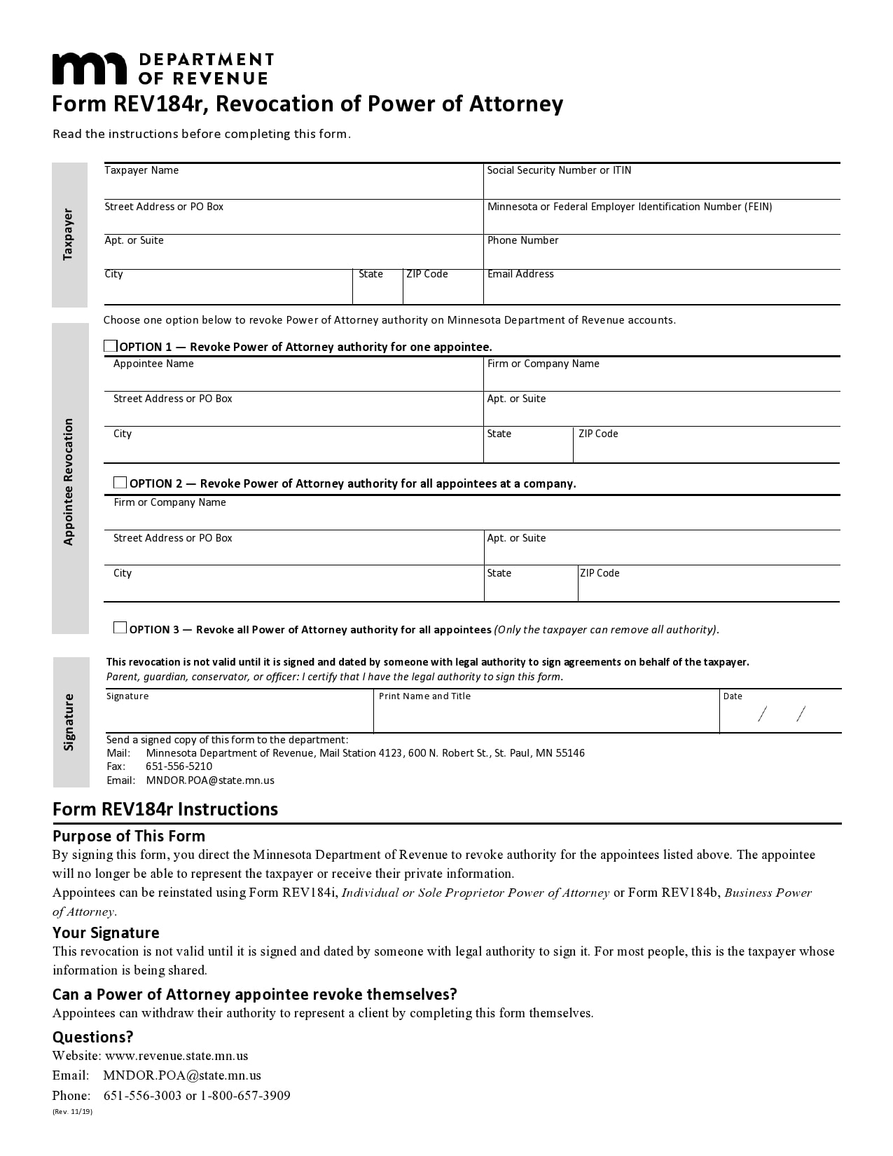 power of attorney revocation form 18