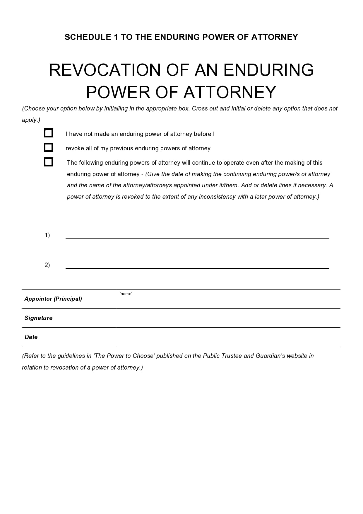 power of attorney revocation form 27
