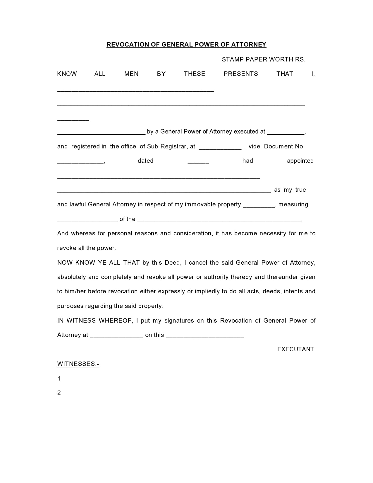 power of attorney revocation form 28