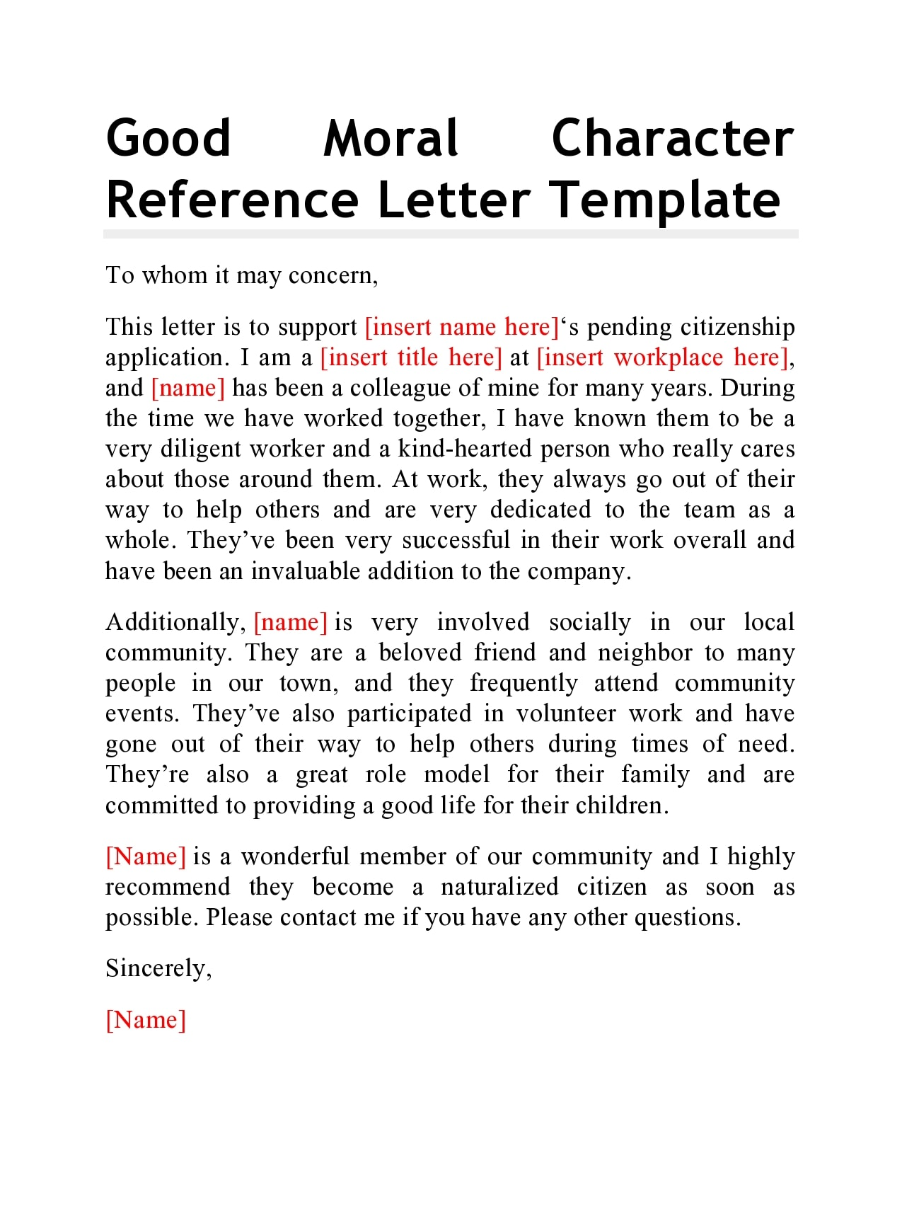Letter Of Good Conduct For Immigration from templatearchive.com