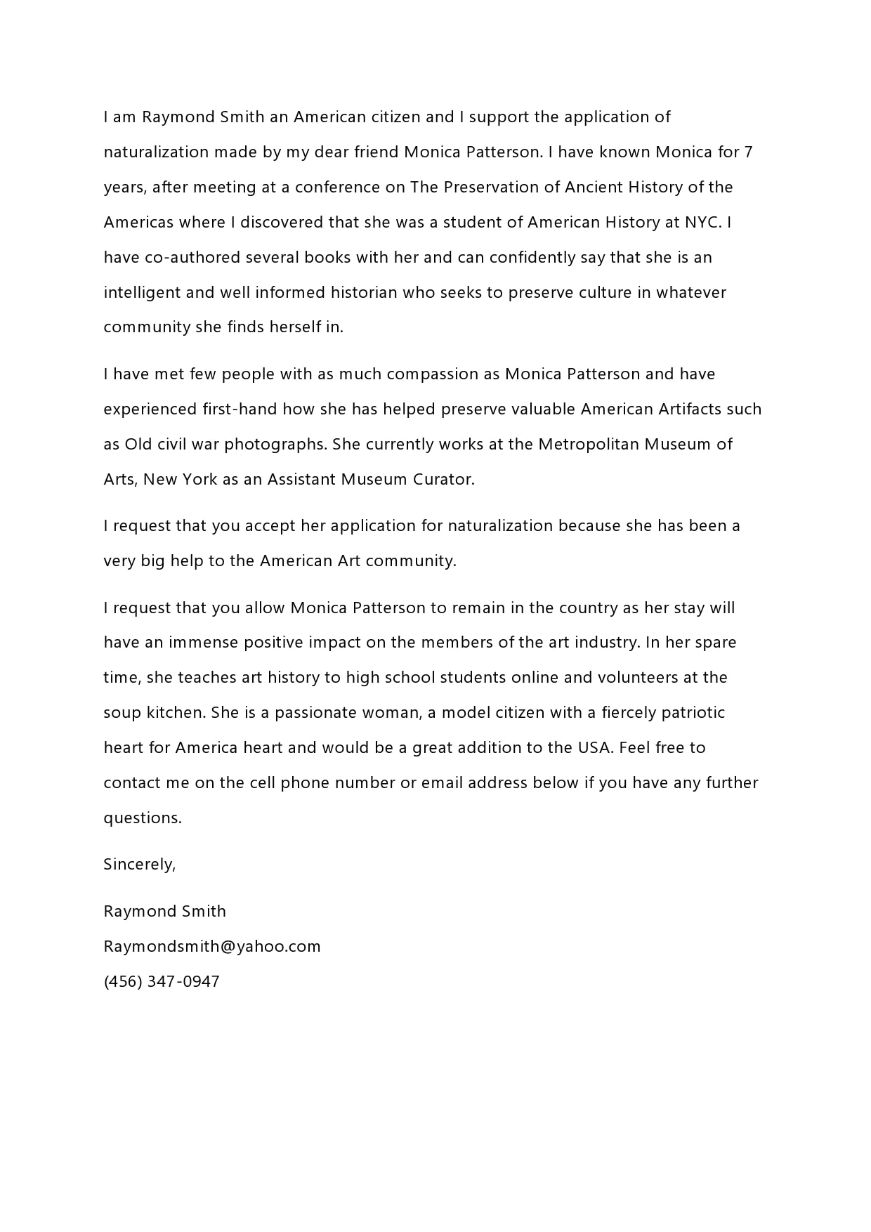 reference letter for immigration 22
