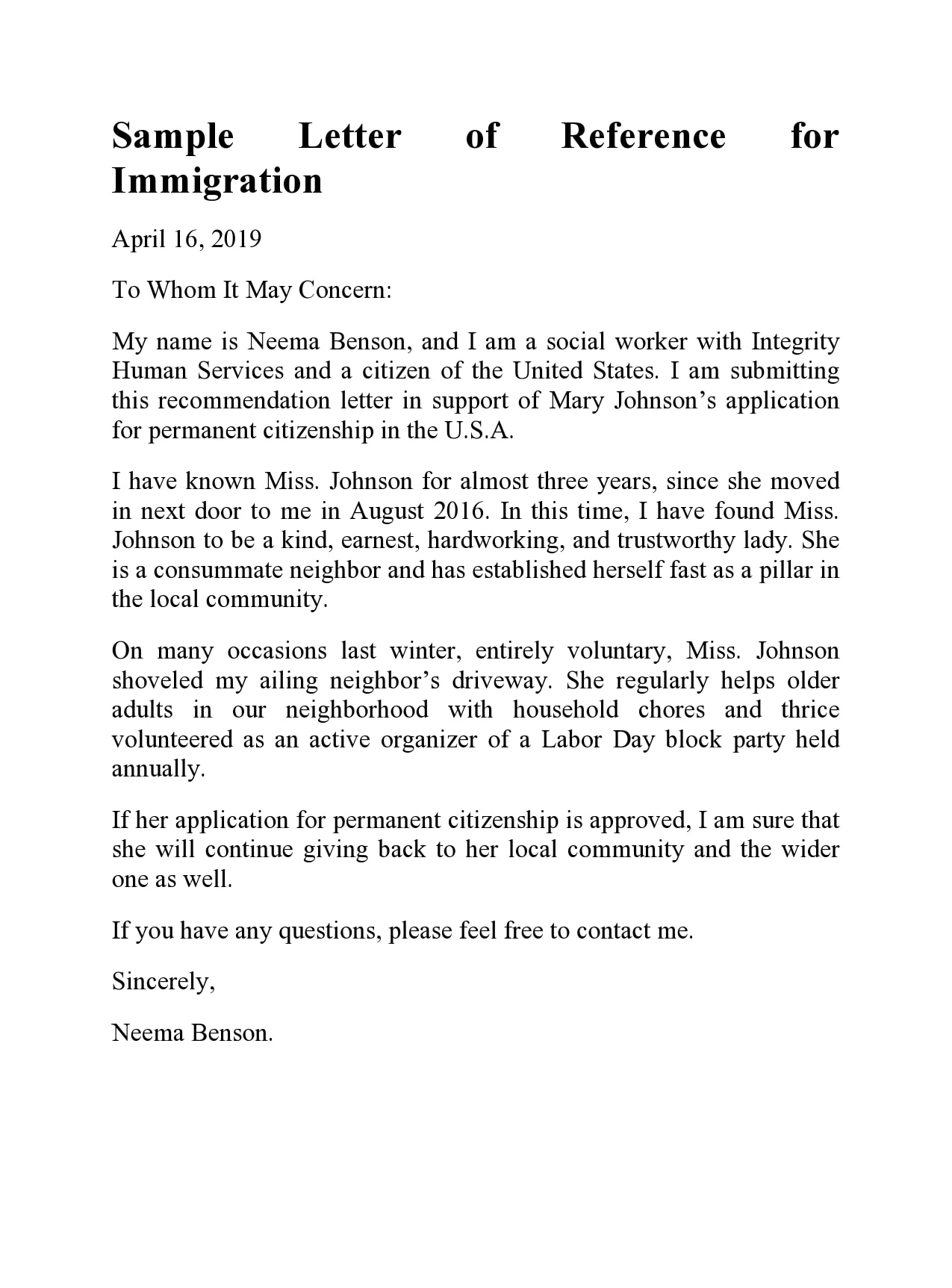 reference letter for immigration 26
