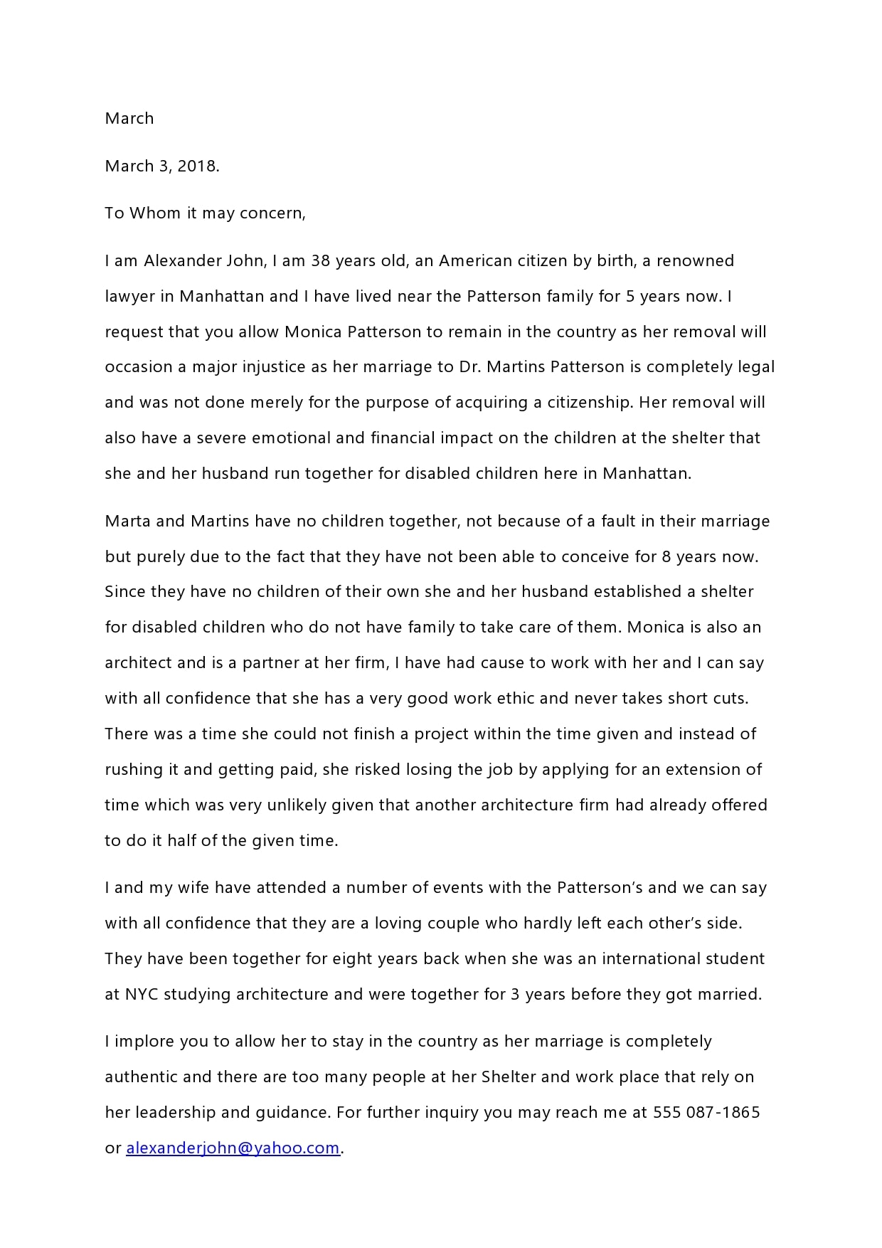 reference letter for immigration 30