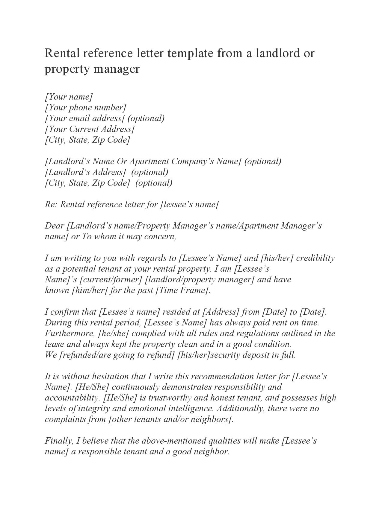 rental reference letter 10
