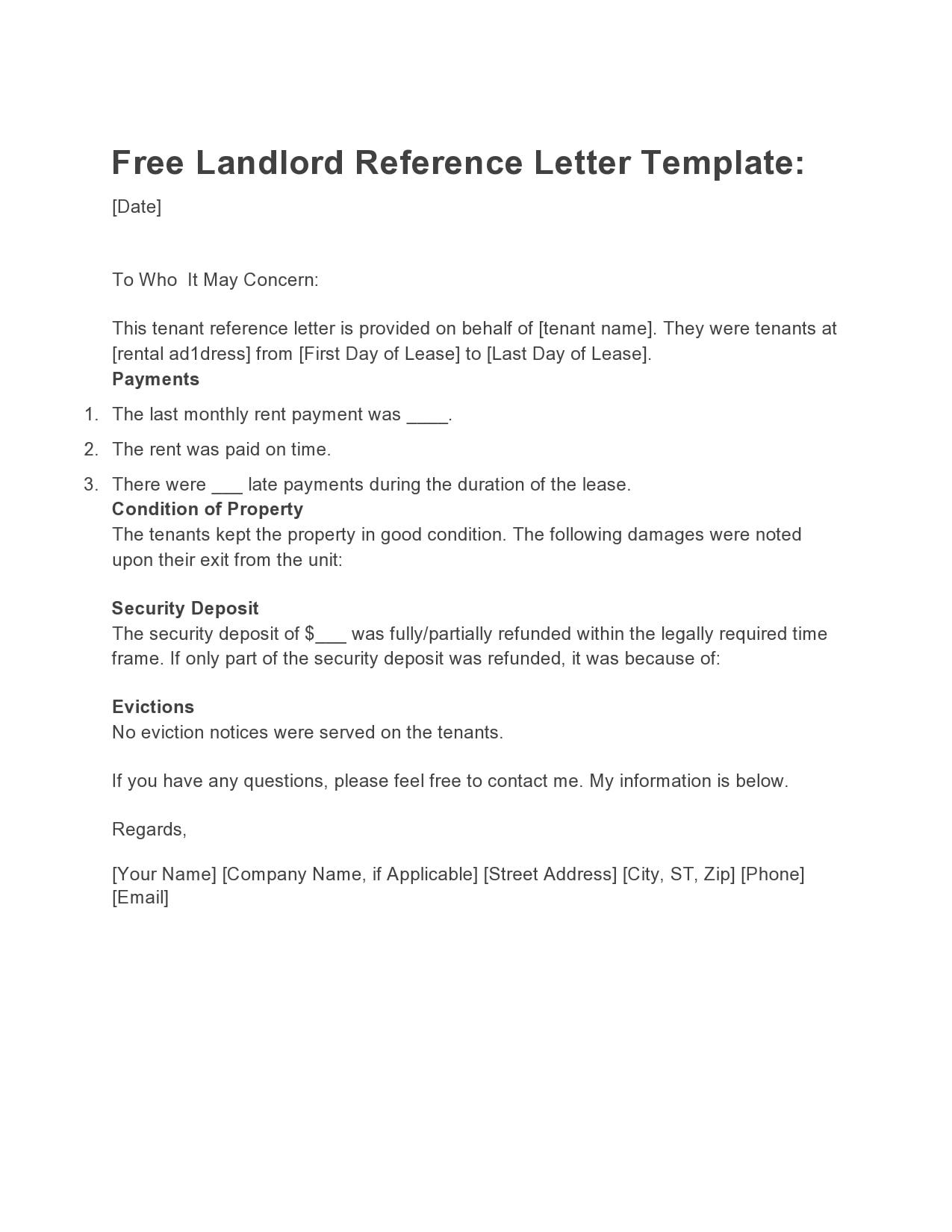 rental reference letter 17