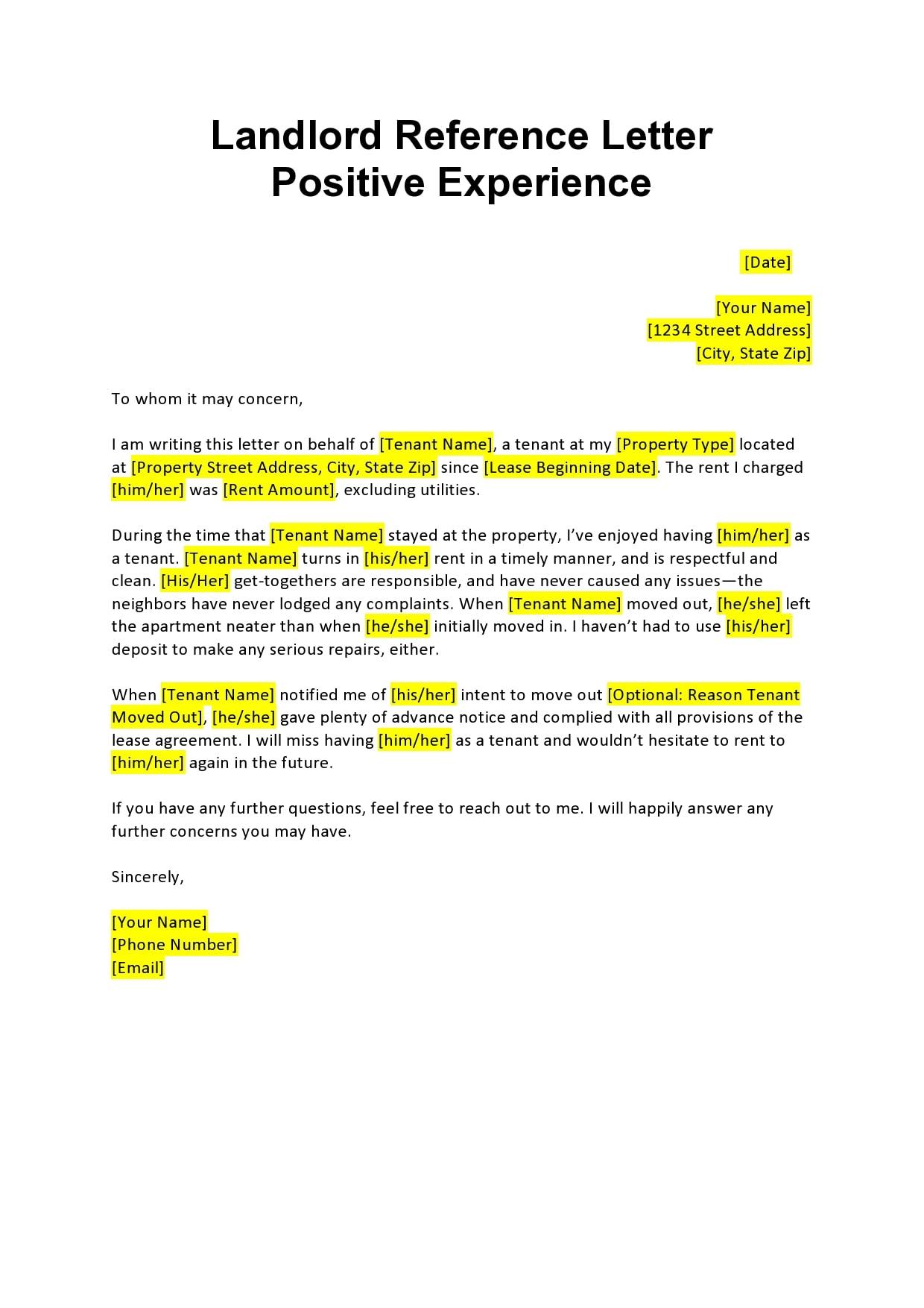 rental reference letter 22