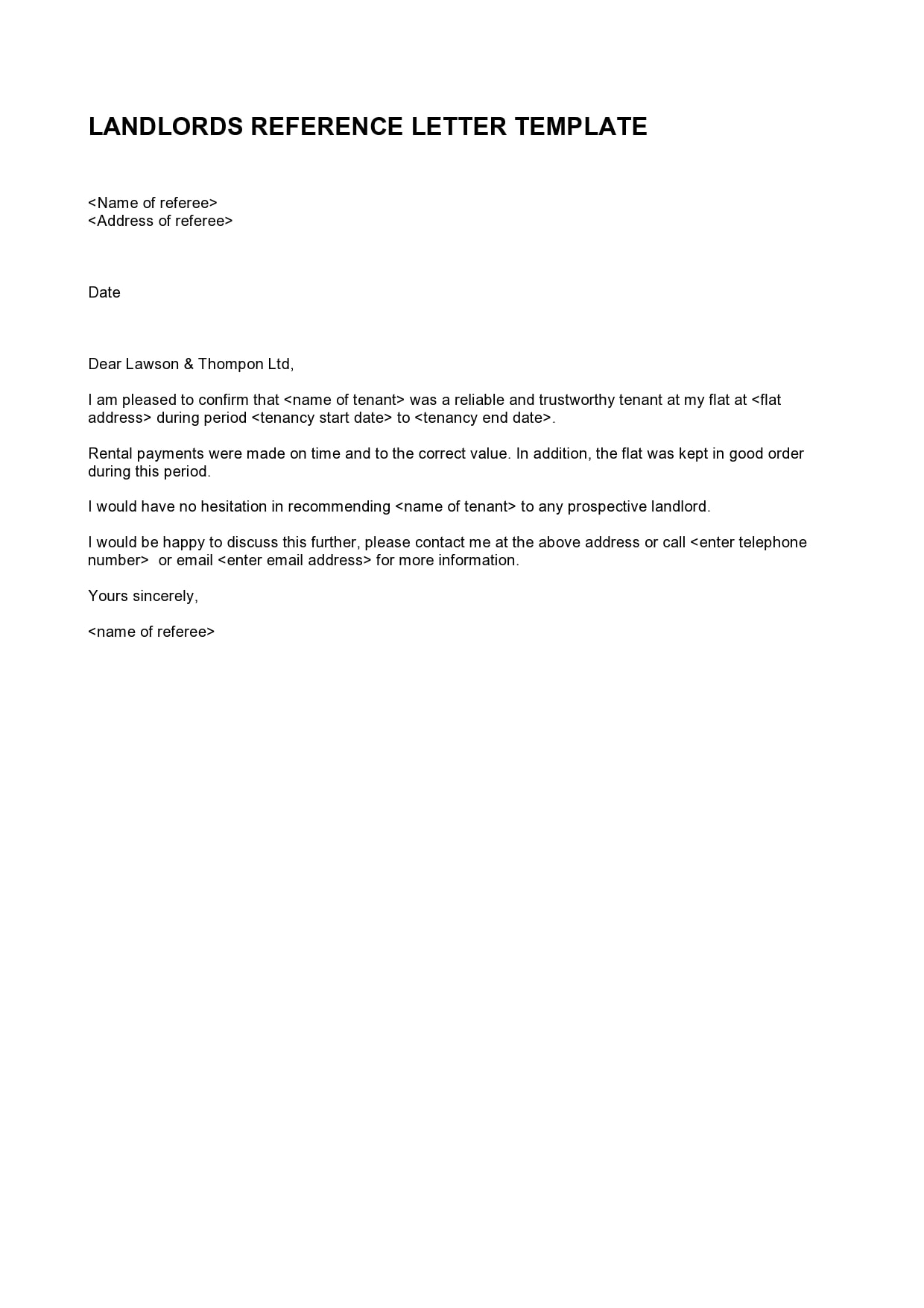 rental reference letter 23