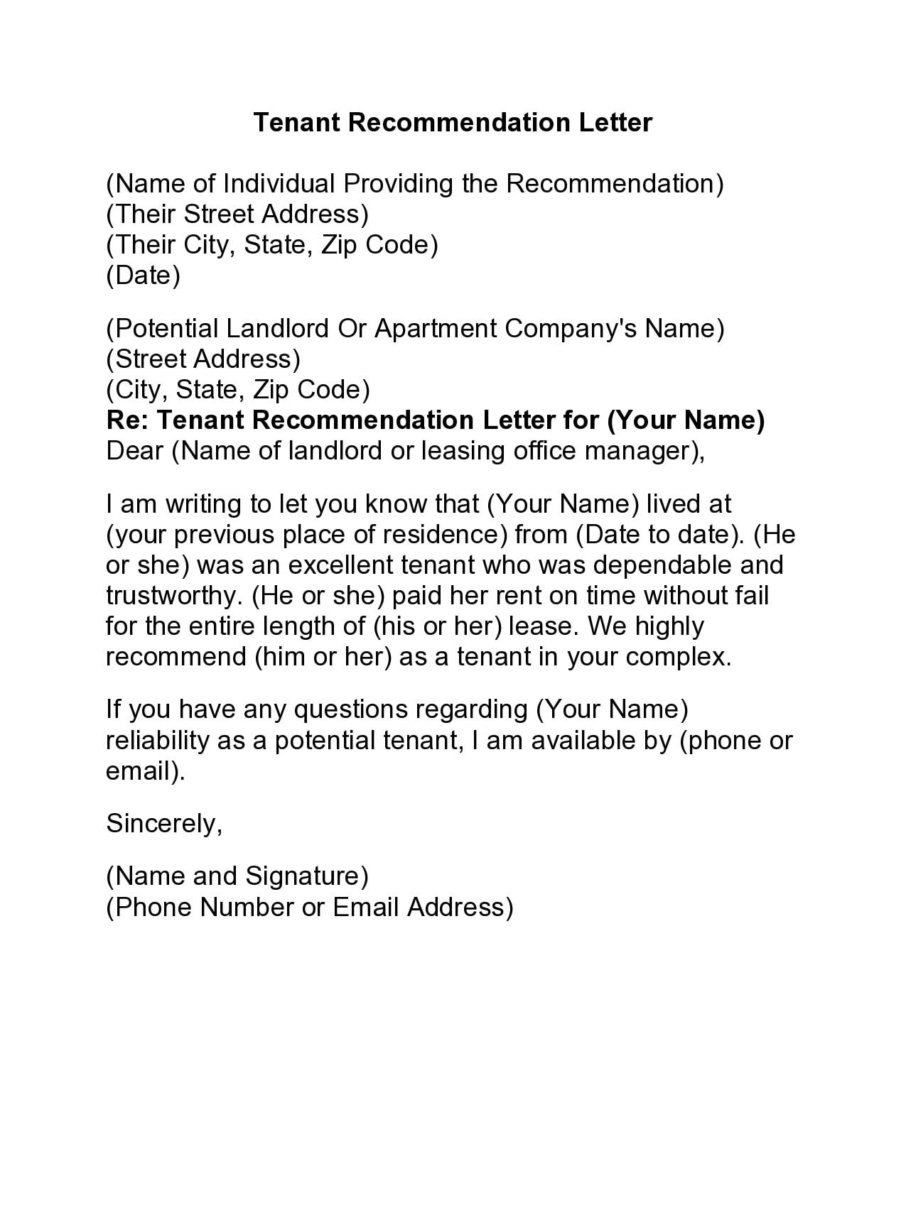 rental reference letter 24