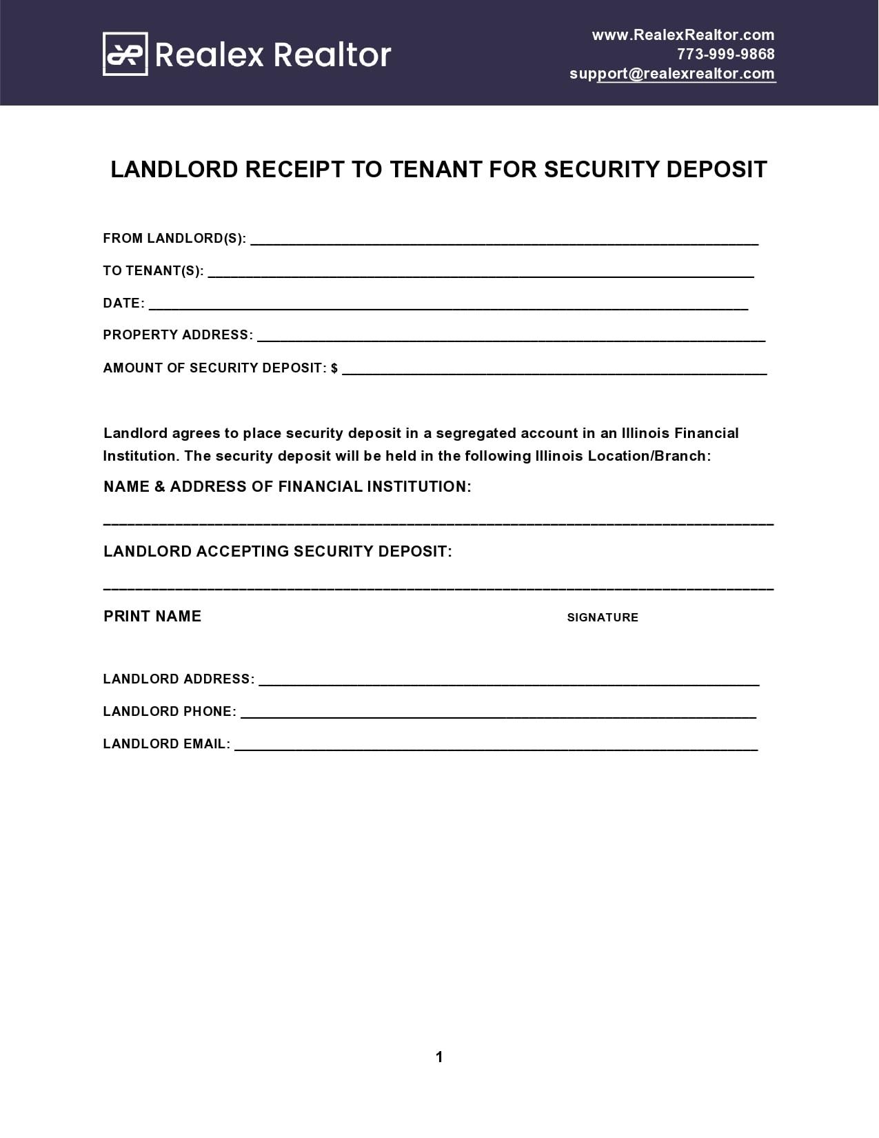 security deposit receipt 07