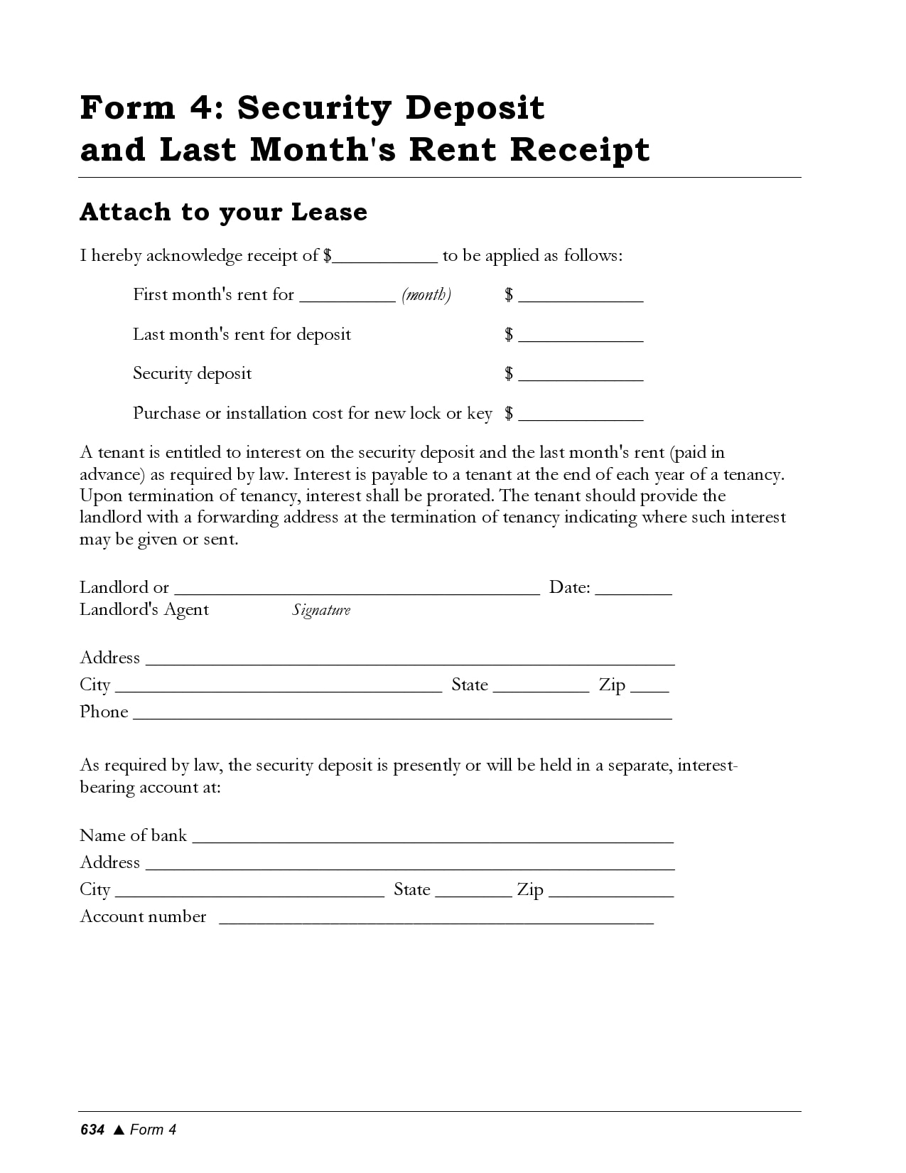 security deposit receipt 29