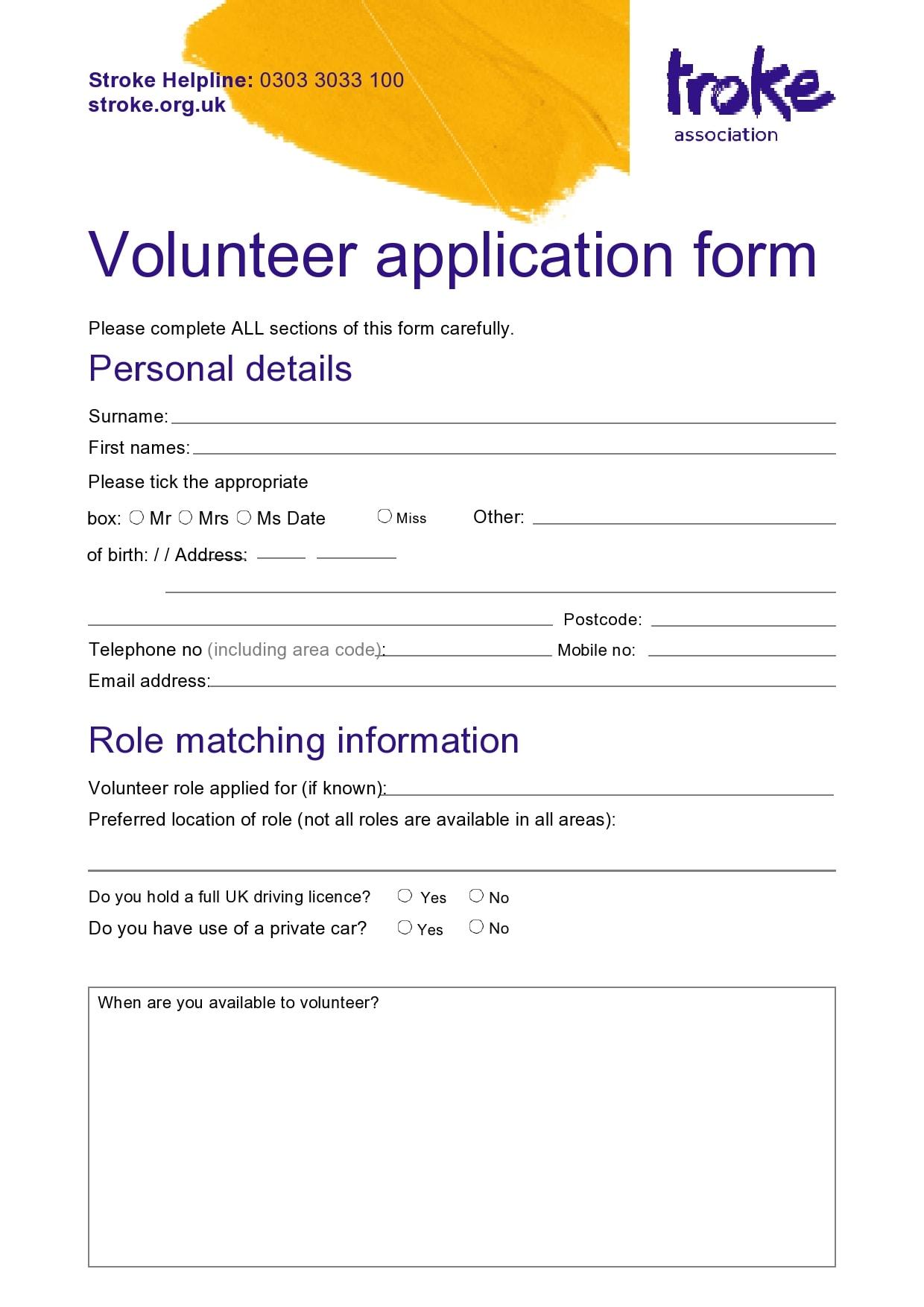 volunteer application template 03
