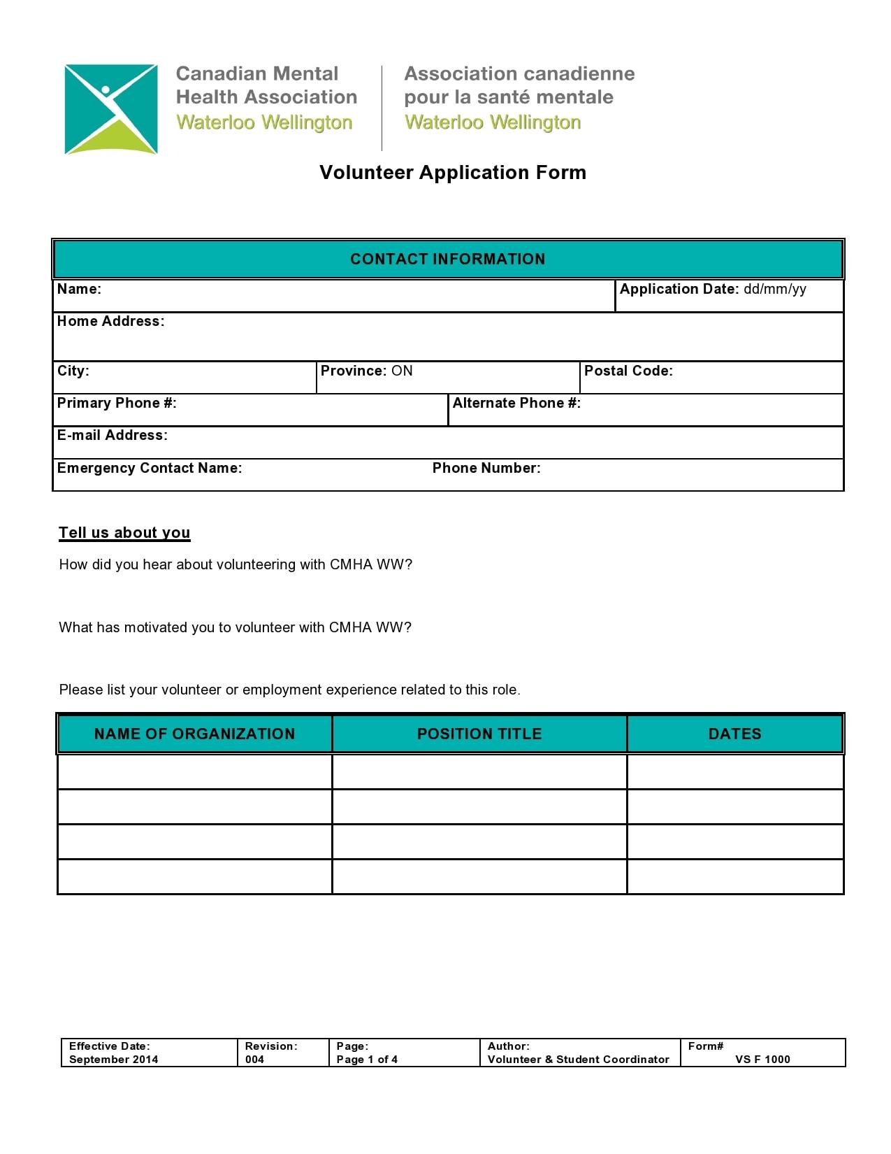 volunteer application template 07