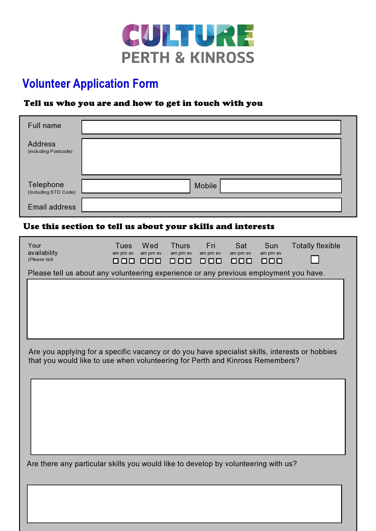 volunteer application template 16
