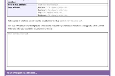 volunteer application template 29