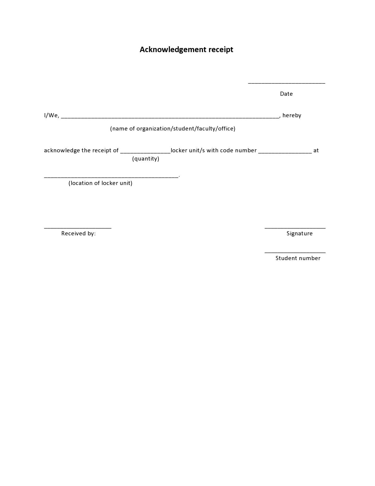 acknowledgement receipt 09