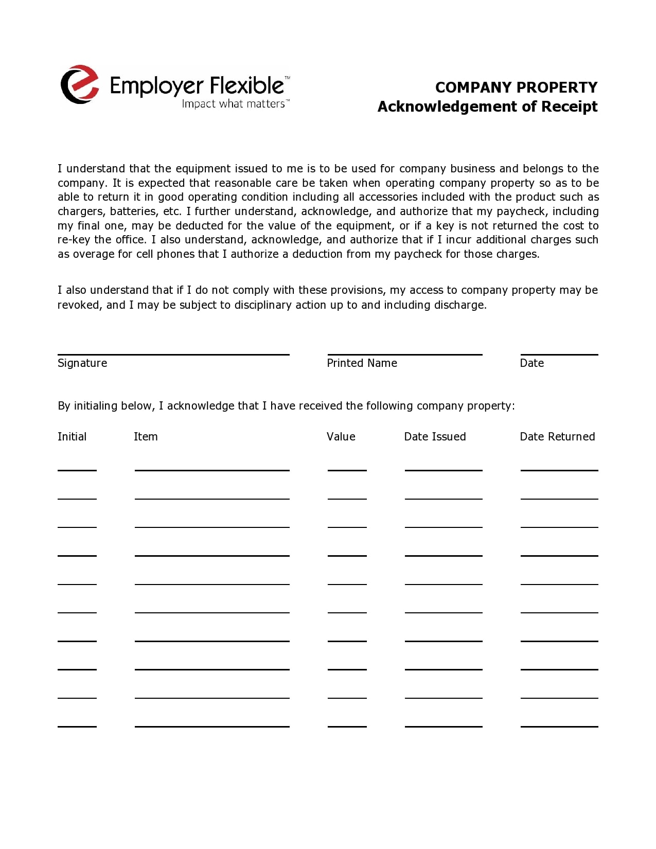 acknowledgement receipt 22