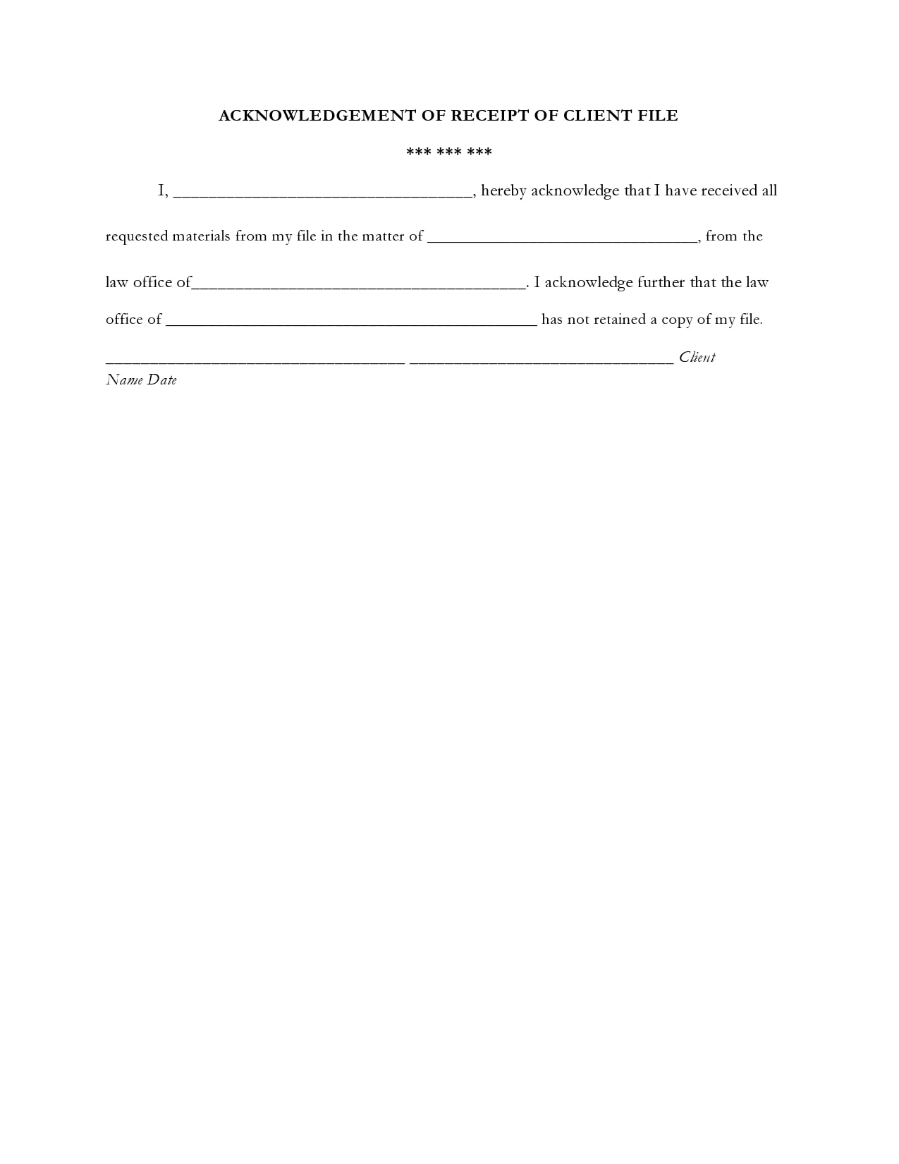 acknowledgement receipt 26