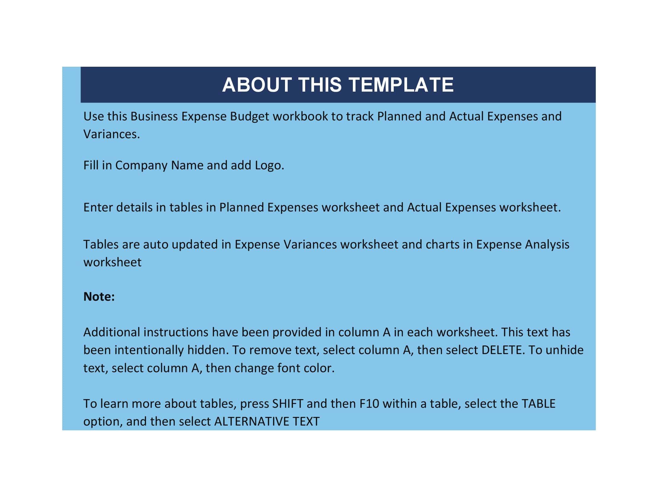 business expense spreadsheet 01