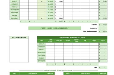 business expense spreadsheet 07
